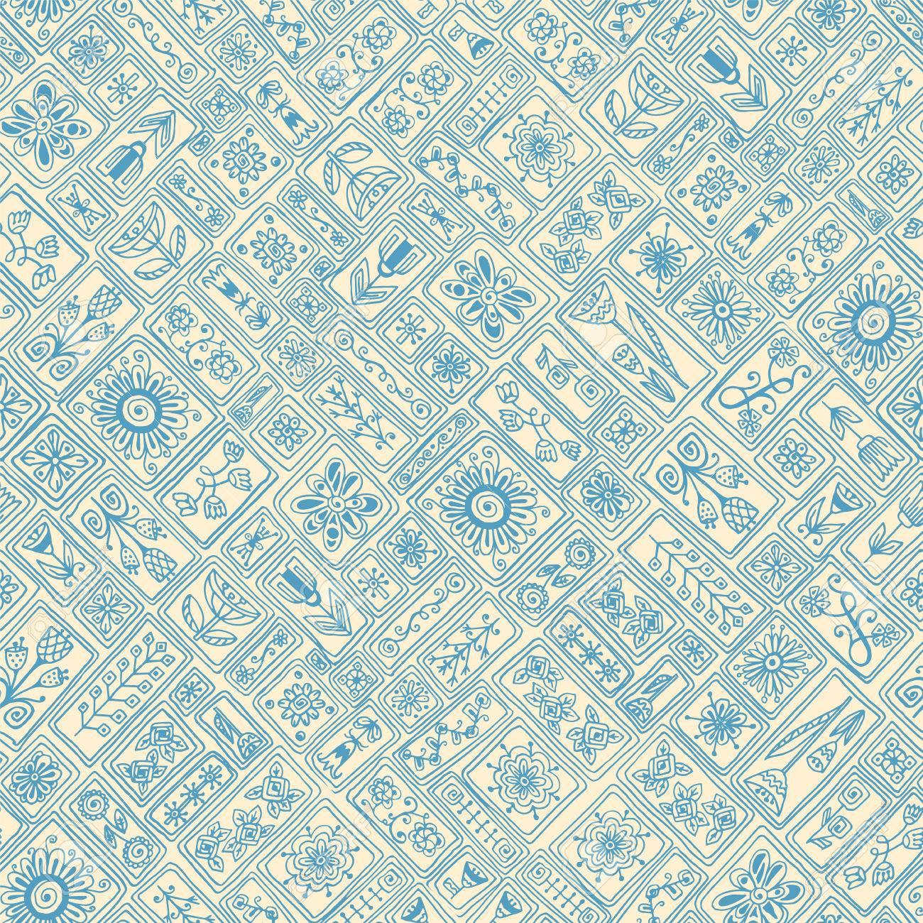 Patrón De Mosaico Sin Fisuras De Azulejos Marroquíes. Textura ...
