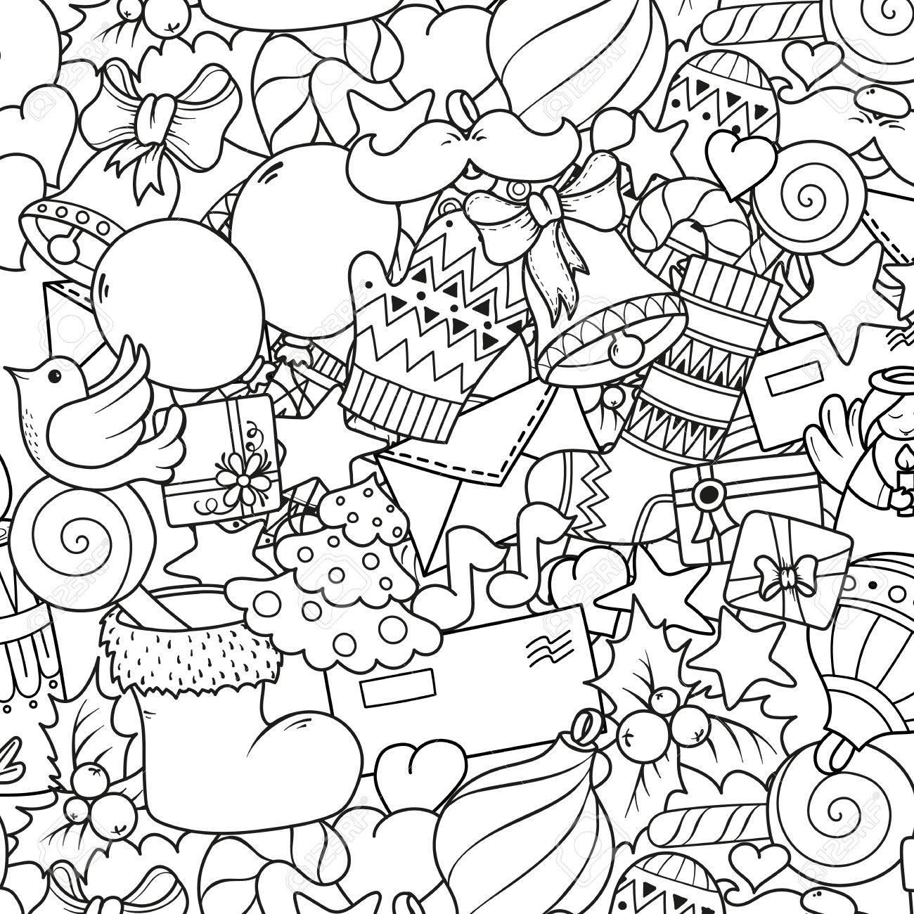 Frohe Weihnachten Satz Von Weihnachten Monochrome Muster Und Text