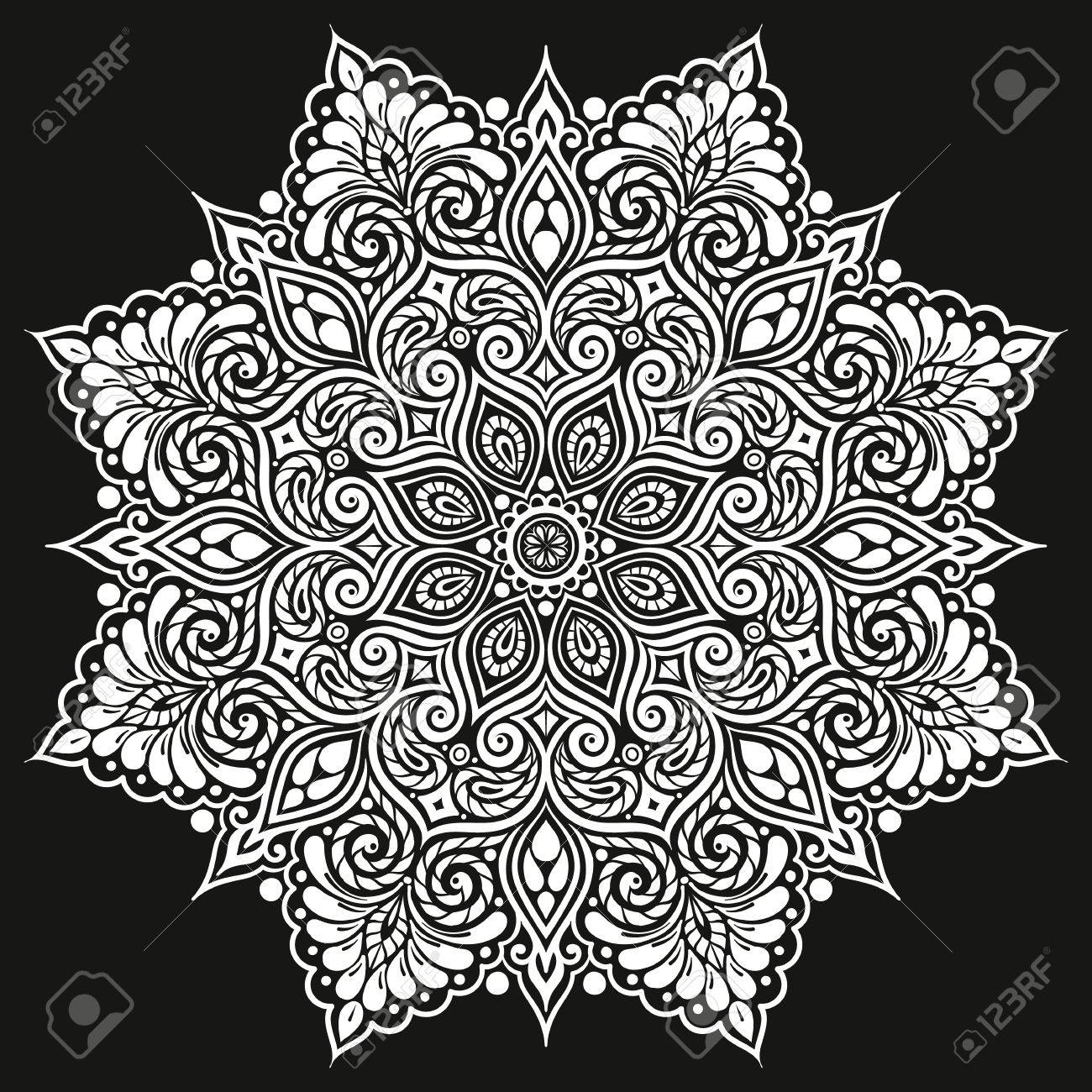 Mandala Vektor Tattoo Perfekte Karte Fur Irgendeine Art Entwurf