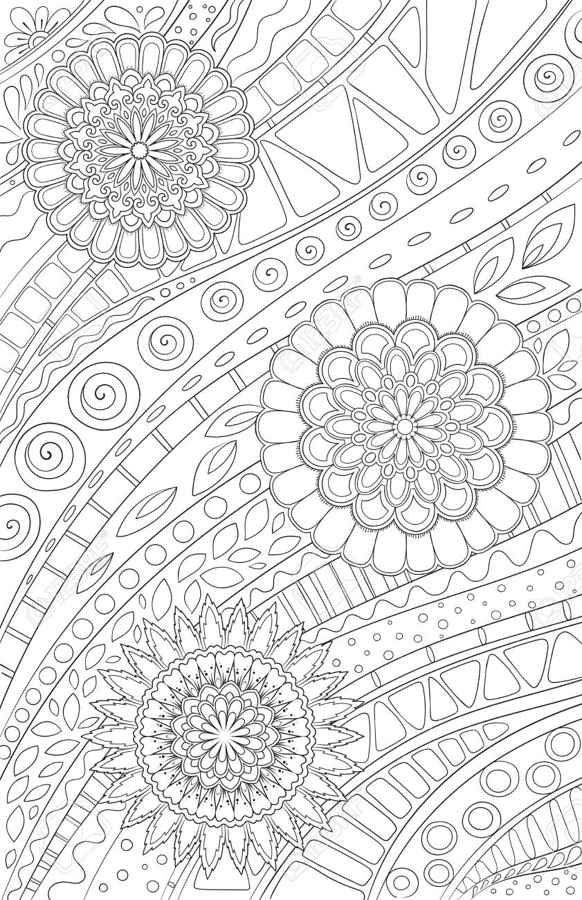 Coloring Page For Adult And Kids Coloring Book Or Bullet Journal ...