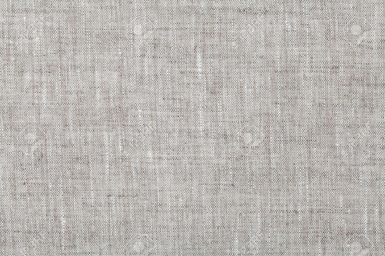 Fabric background in neutral grey color, linen texture, top view - 52797217