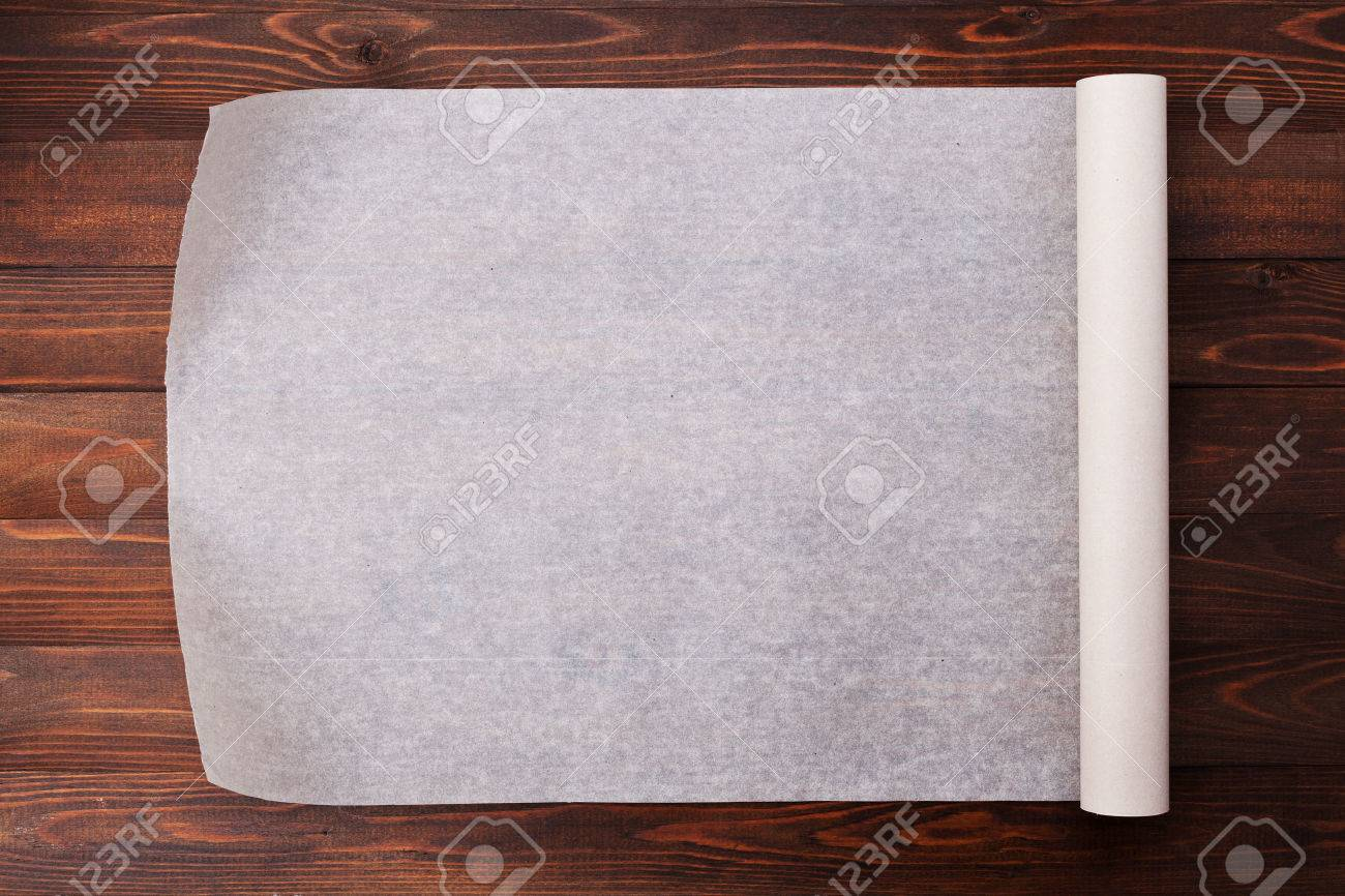 Baking Paper On Wooden Kitchen Table For Menu Or Recipes Top - The kitchen table menu
