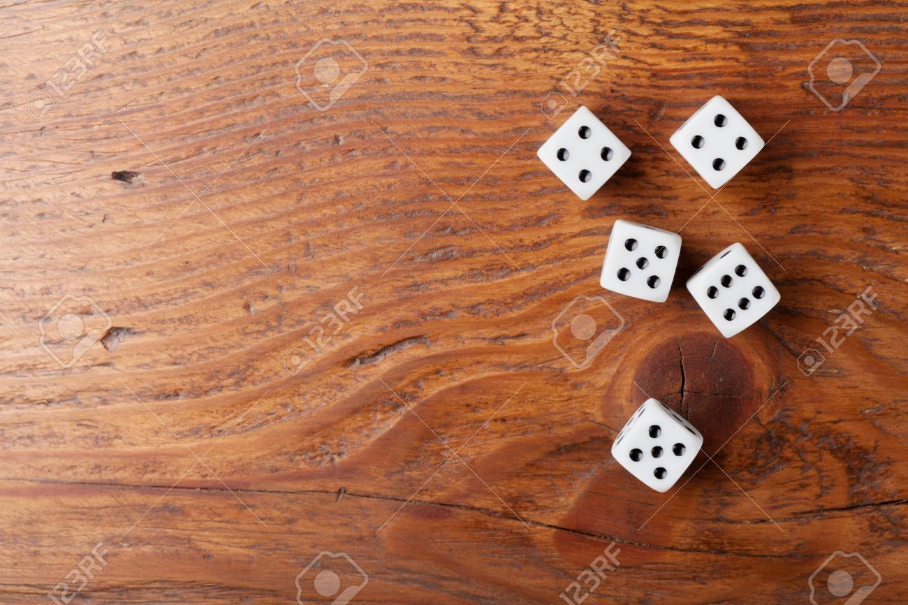 Heap Of White Dice On Rustic Wooden Table Top View Gambling Stock Photo Picture And Royalty Free Image Image 92543851
