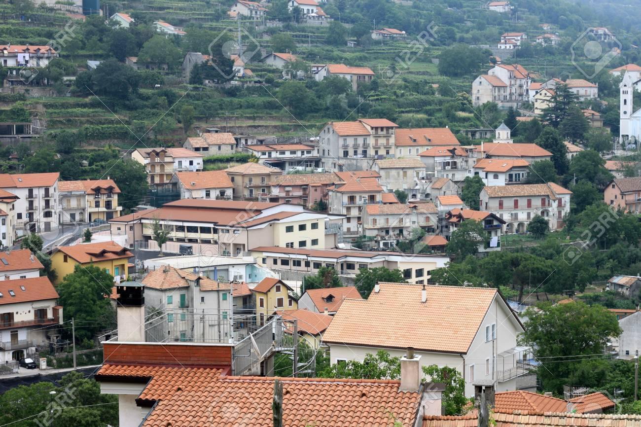 Beautiful City Landscape In Style Of Traditional Italian Architecture Amalfi Coast Italy Houses
