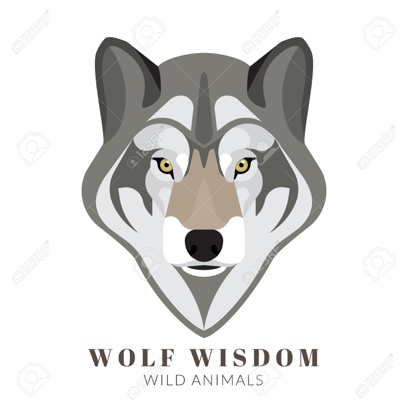 Cute wolf illustration