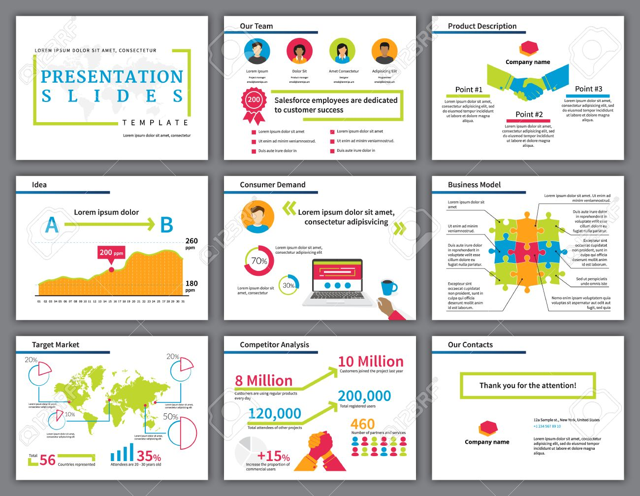 Business Bright And Colourful Infographics Presentation Slides ...