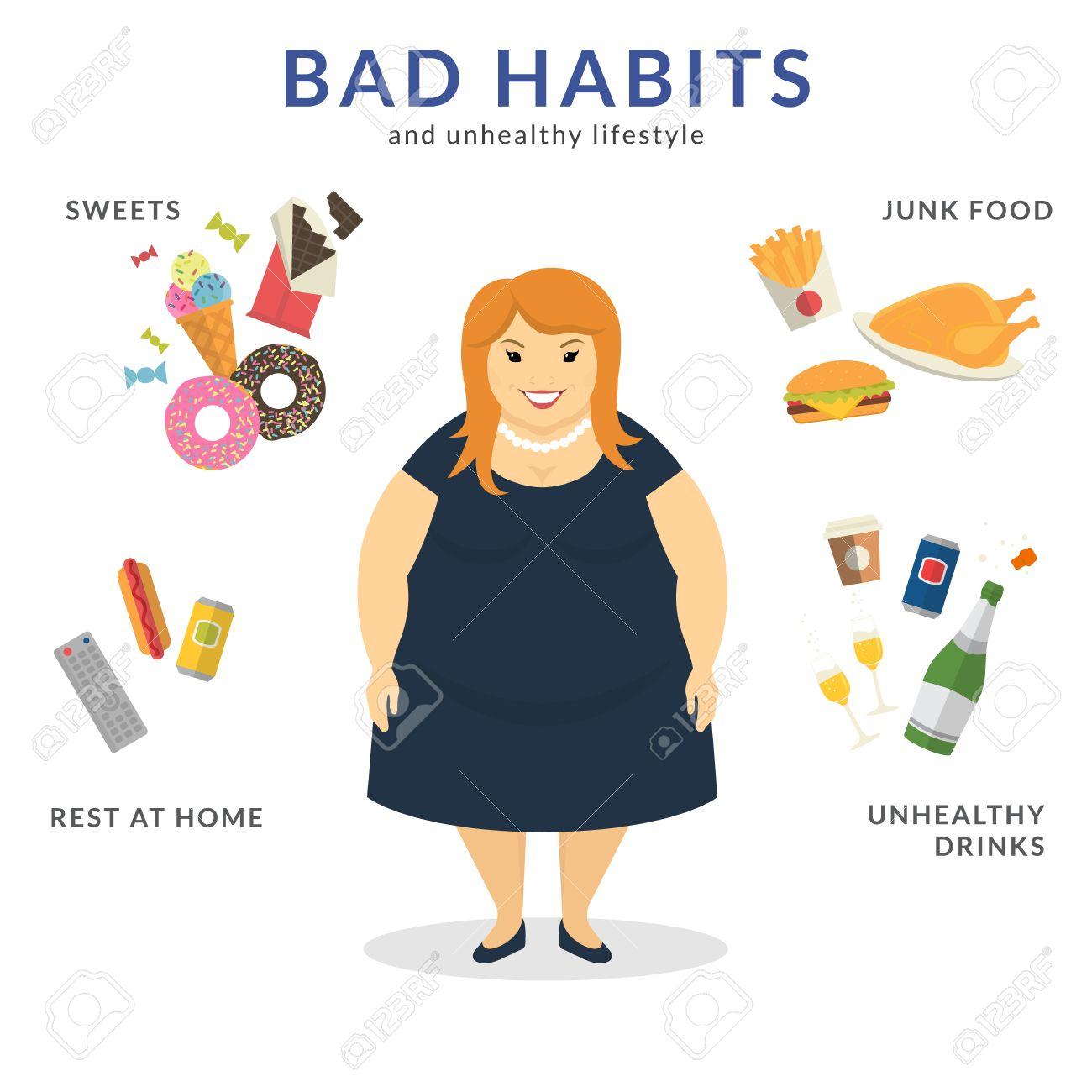 Estilos de vida poco saludables ejemplos