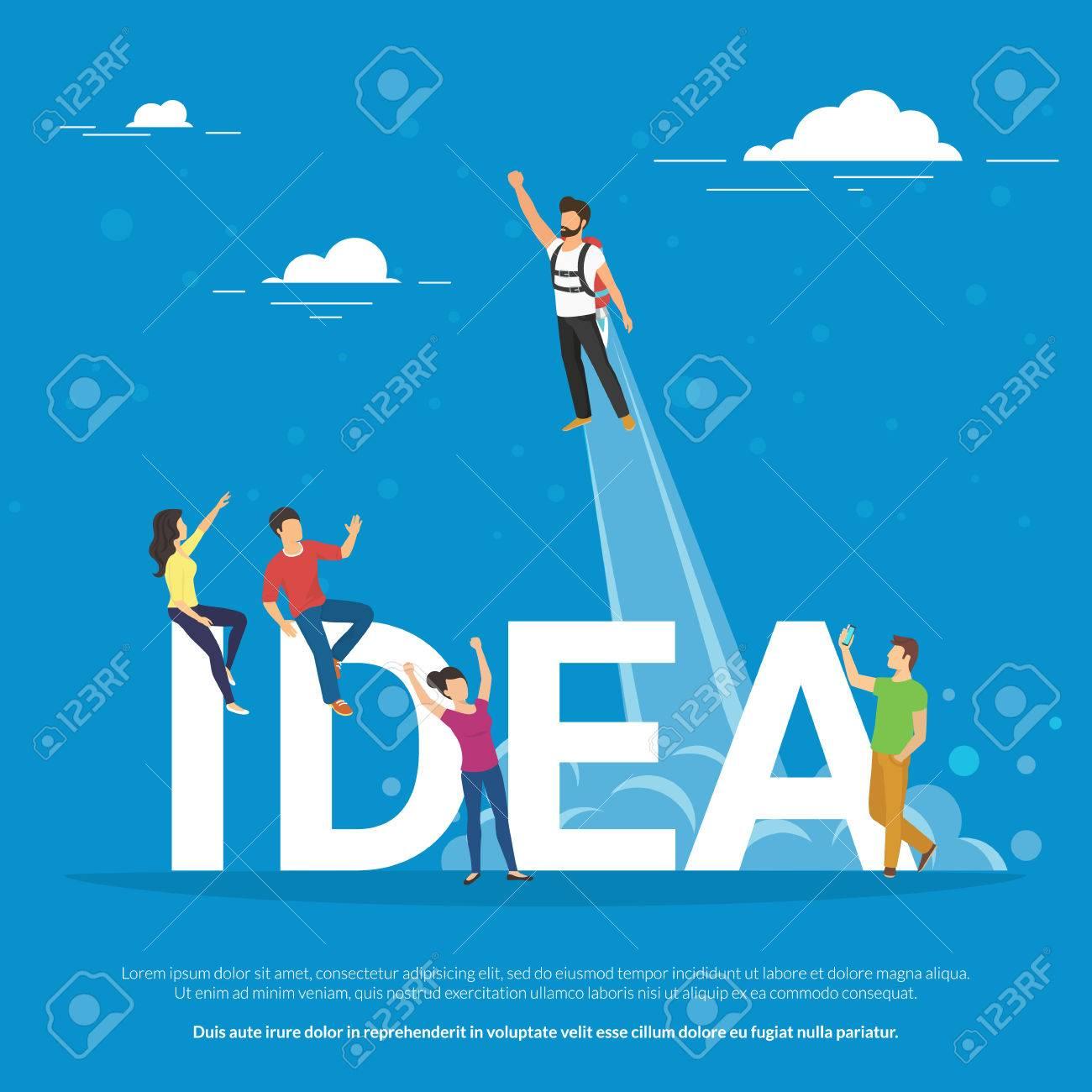 Idea Concepto Ejemplo De La Gente De Negocios Trabajando Juntos Como