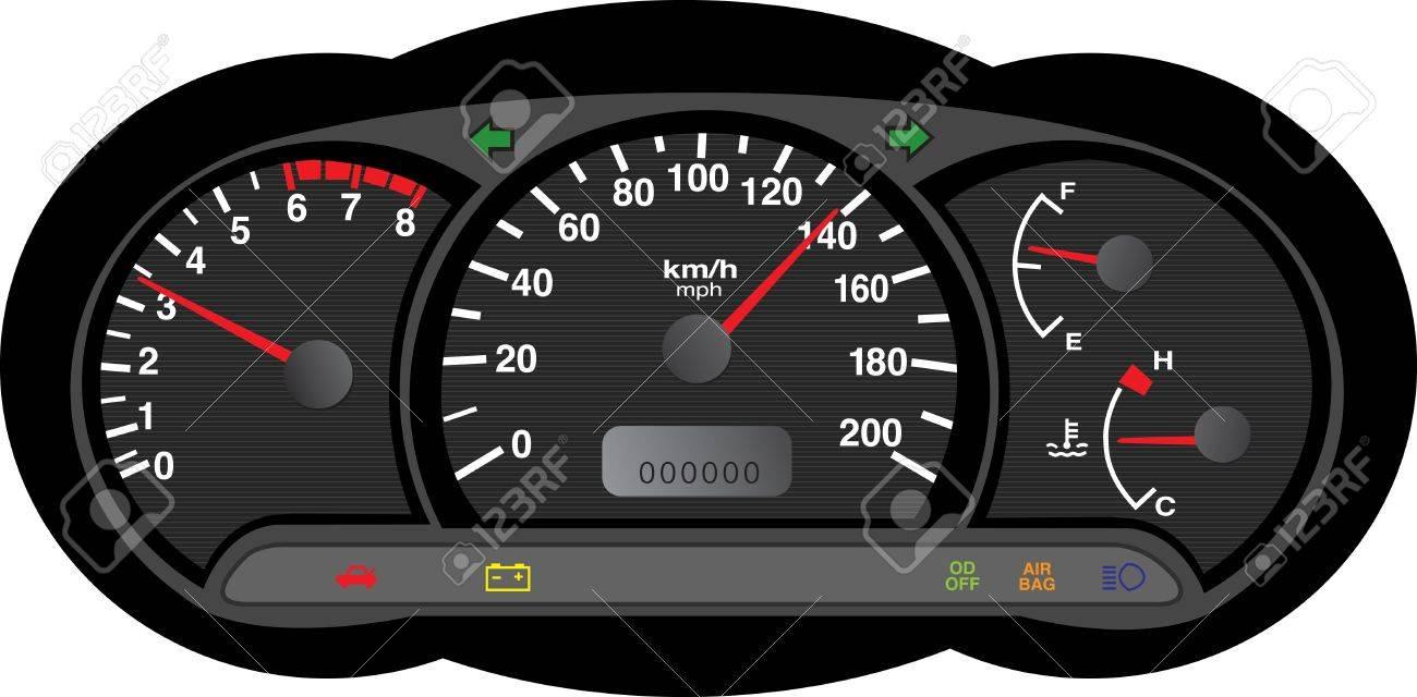 car dashboard Stock Vector - 17870256
