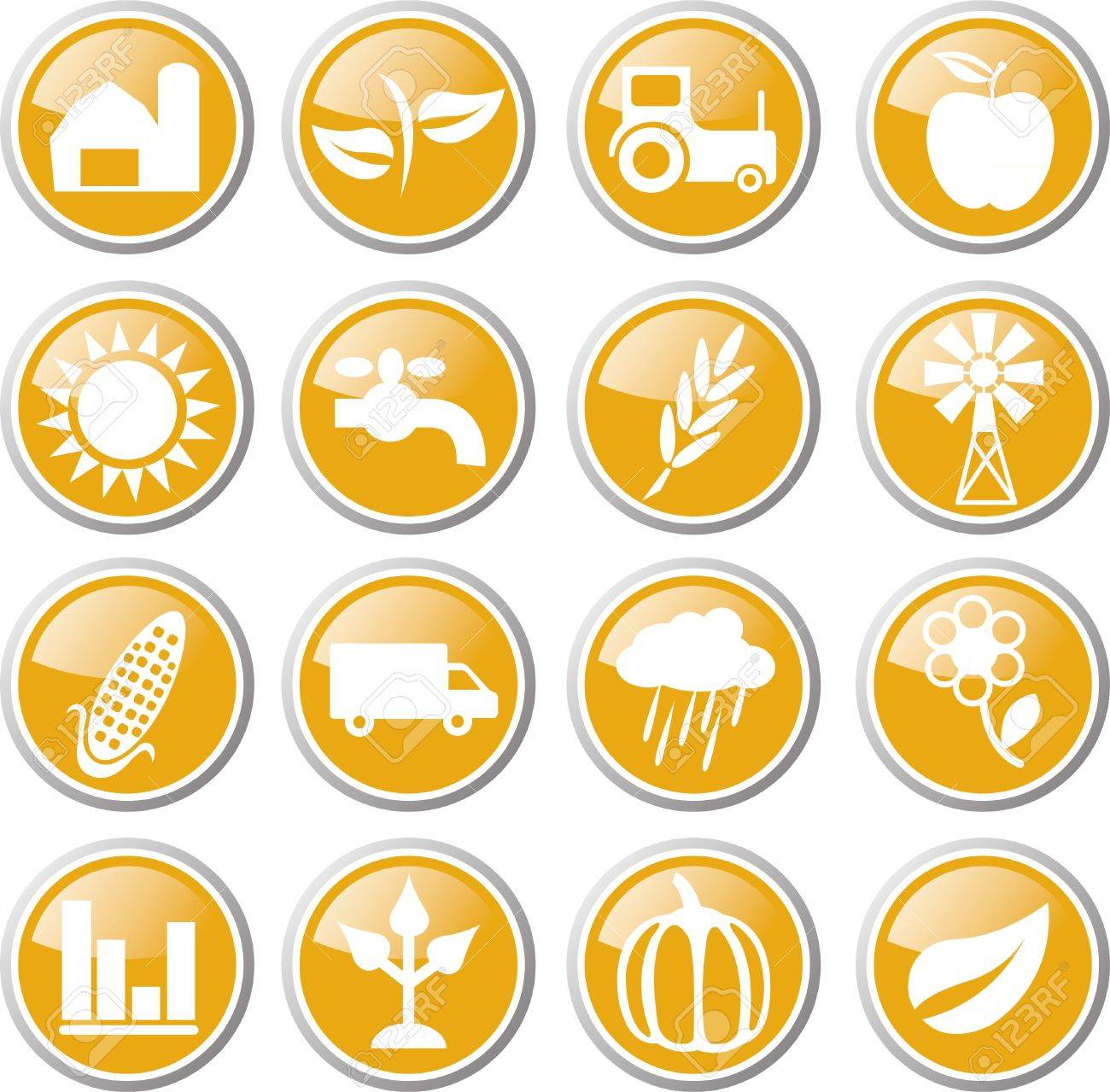 agriculture icon set Stock Vector - 17983391