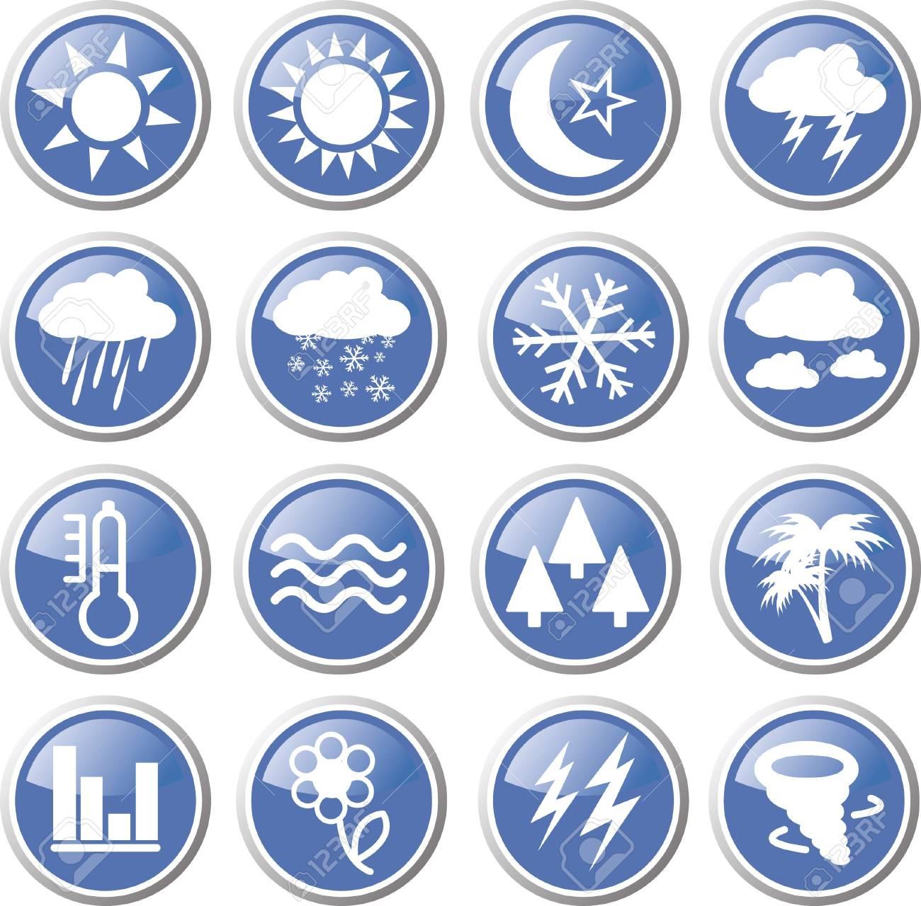 weather forecast icon set Stock Vector - 17983447