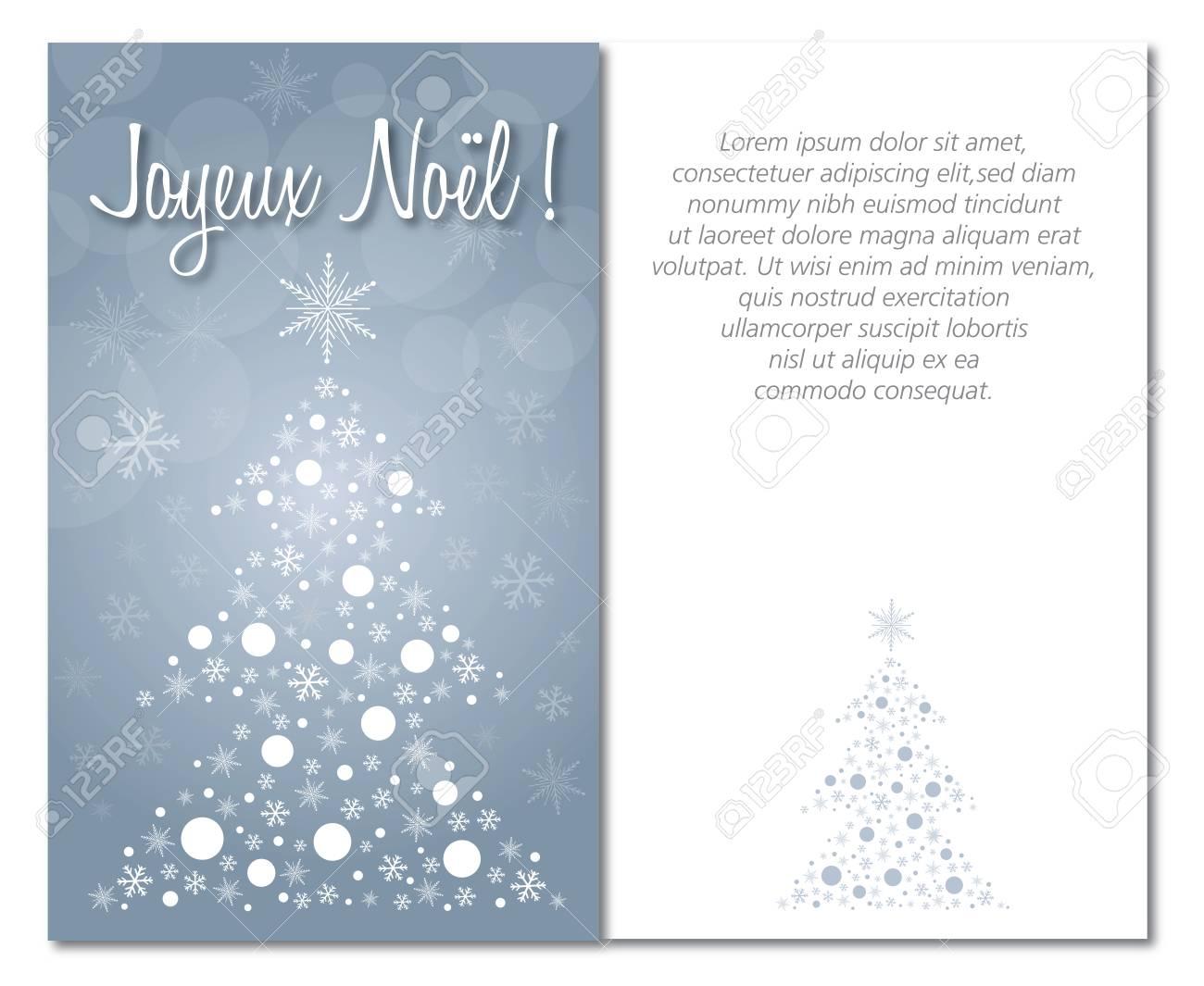Français Joyeux Noël Carte De Voeux Avant Et L'intérieur Ou Le Dos