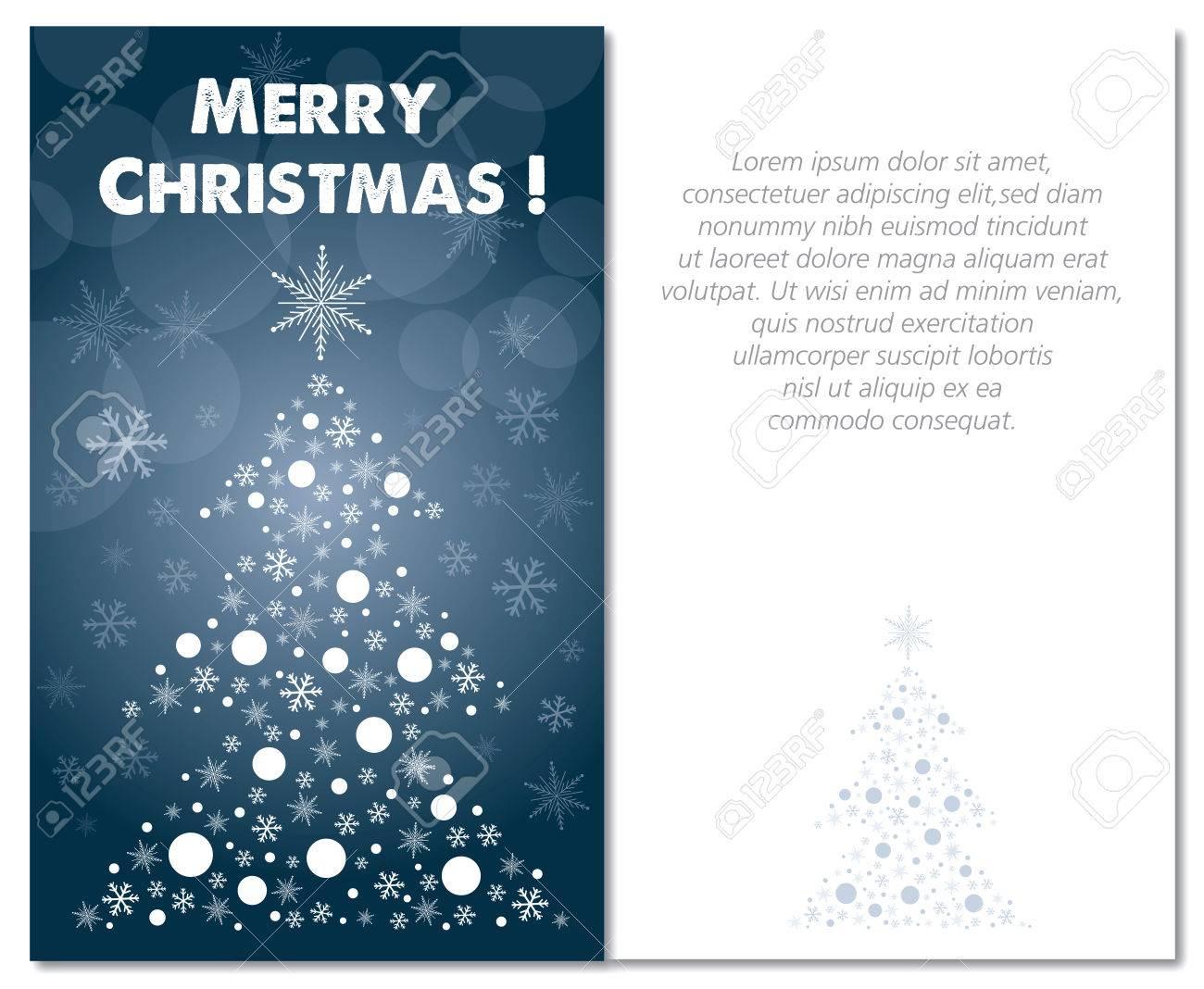 Joyeux Noël Avant Carte De Voeux Et Le Texte D'illustration