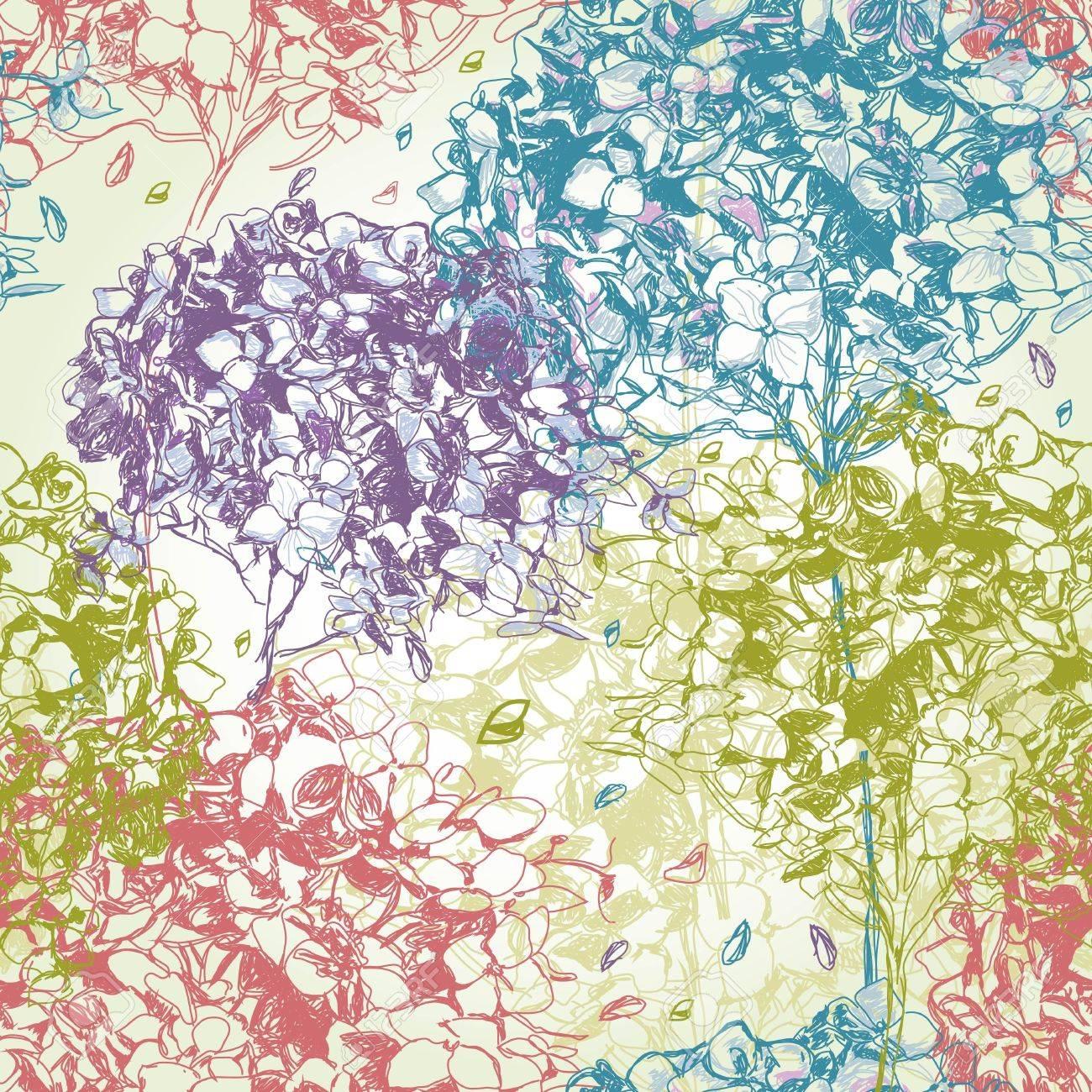 Seamless floral pattern - 11655694