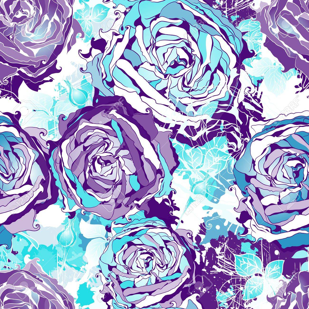 Seamless flowers wallpaper pattern. - 42098839