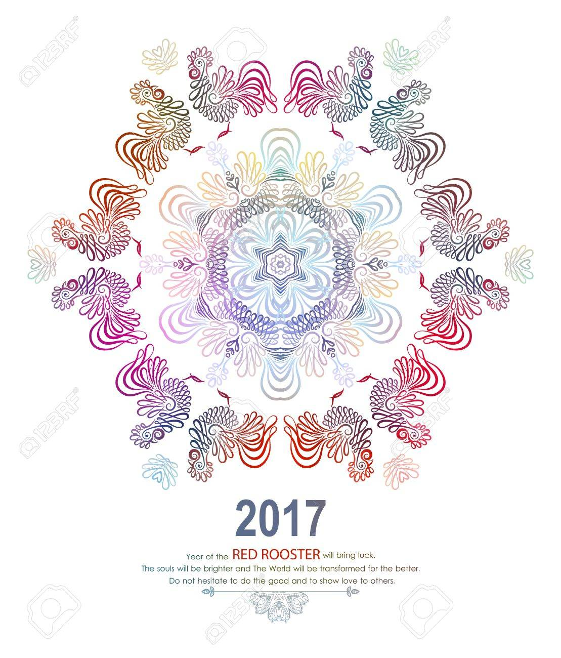 Happy new year design with wishes rooster symbol 2017 in chinese happy new year design with wishes rooster symbol 2017 in chinese calendar mandala biocorpaavc