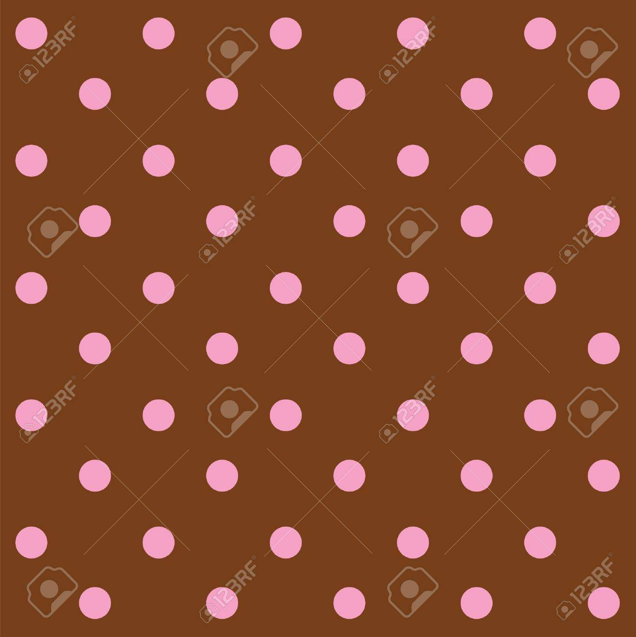 Dots chocolate and pink seamless pattern Stock Vector - 12957663