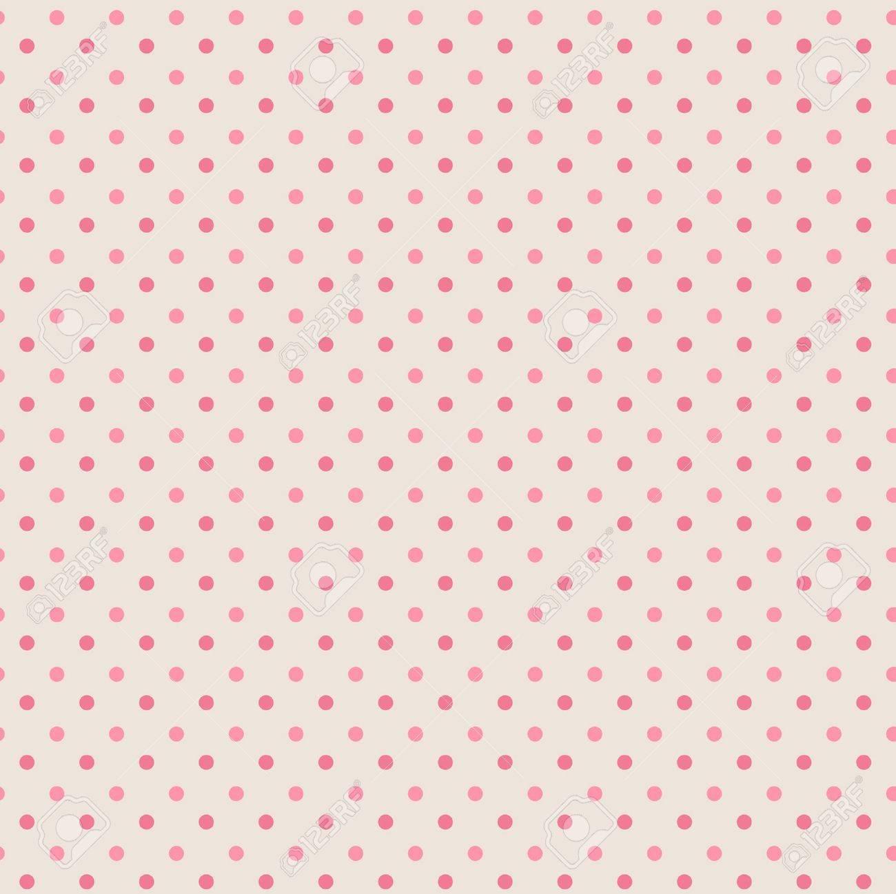 Polka dots, seamless pattern, grey, mixed pink Stock Vector - 12957658