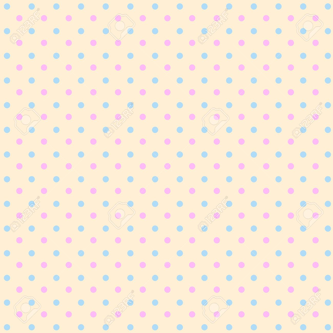 Multicolor Polka Dots Seamless Pattern Classic Stock Vector ...
