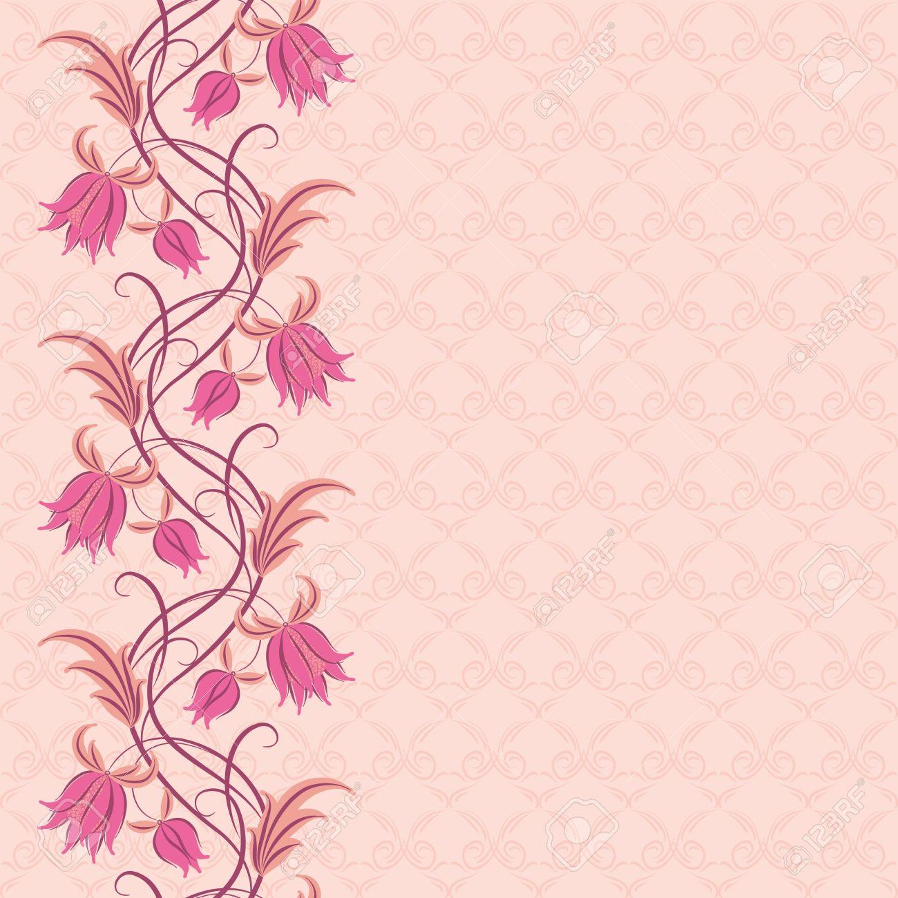 Pink Floral Design Trisaorddiner