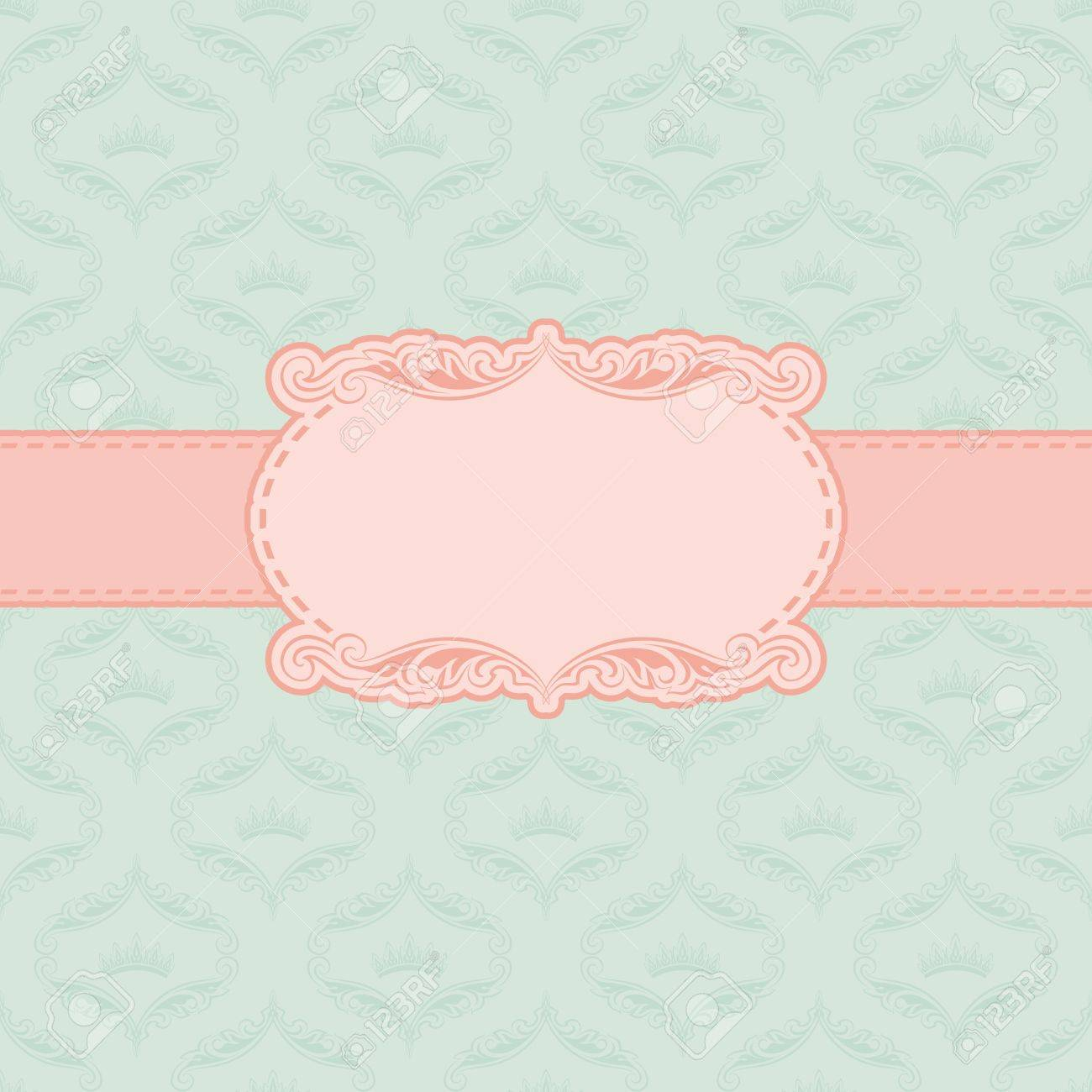 Template frame design for greeting card Stock Vector - 12776612