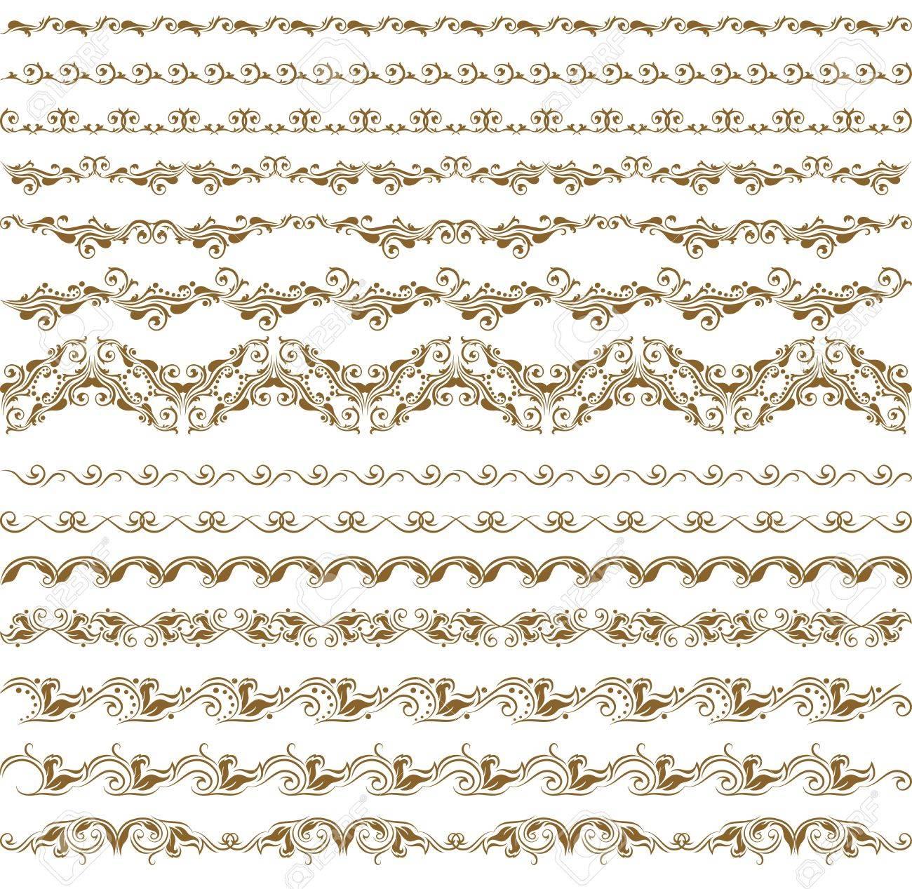 Horizontal elements decoration vector Stock Vector - 12776614