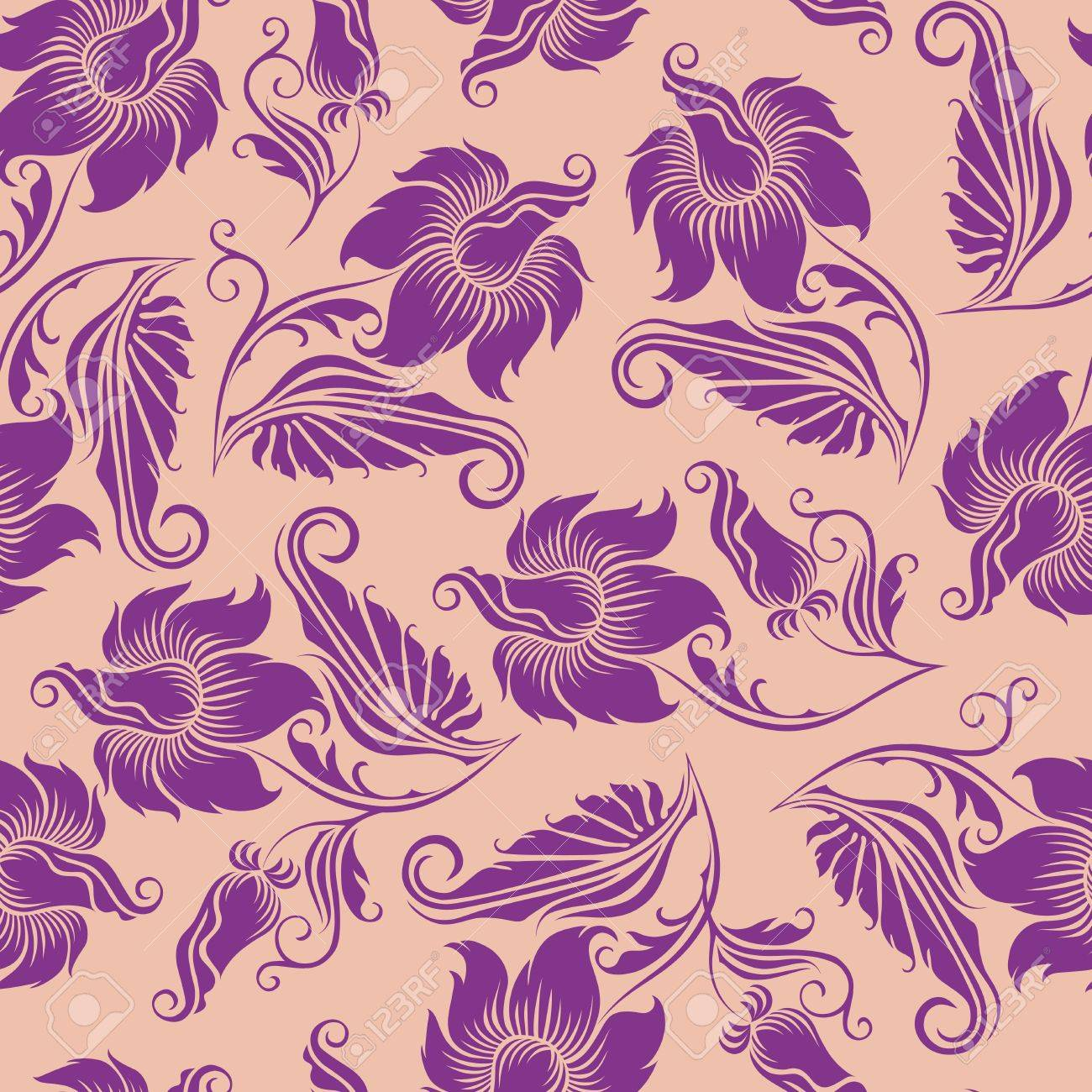 seamless floral pattern Stock Vector - 12776639