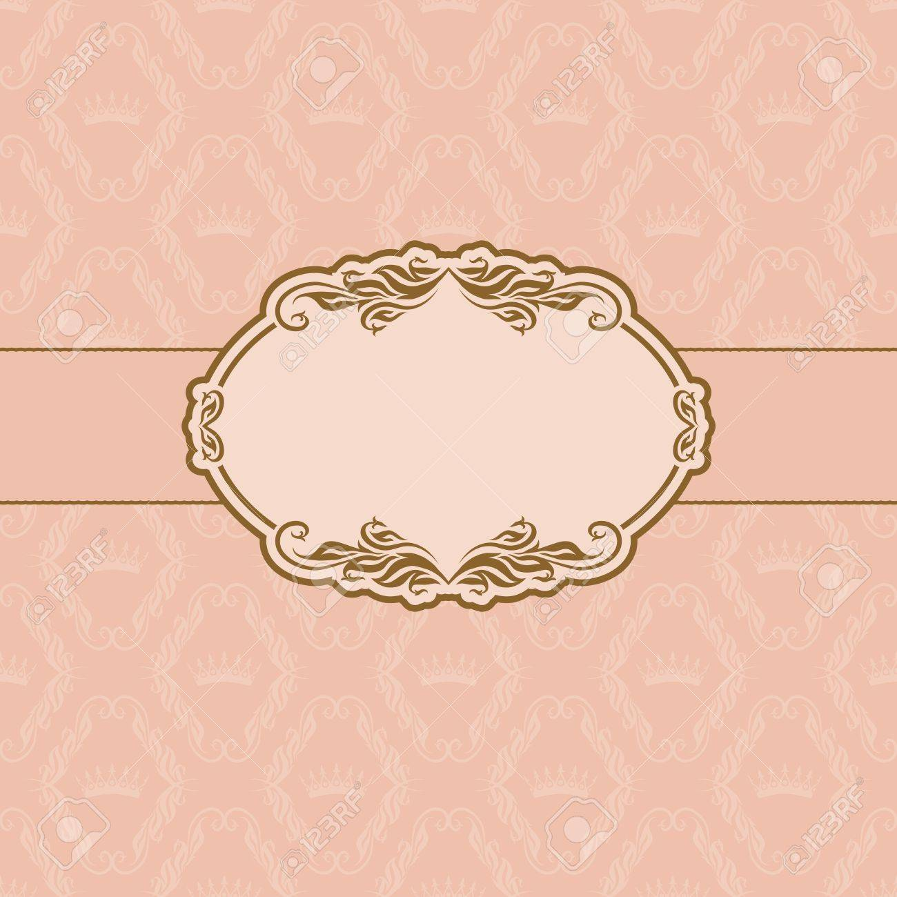 Template frame design for greeting card Stock Vector - 13454411