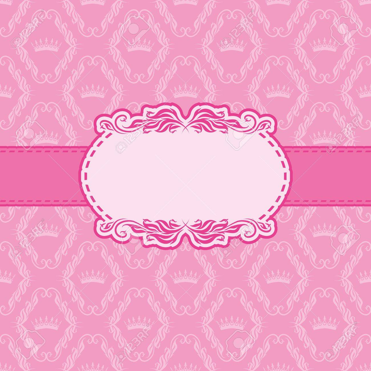 Template frame design for greeting card Stock Vector - 13791316