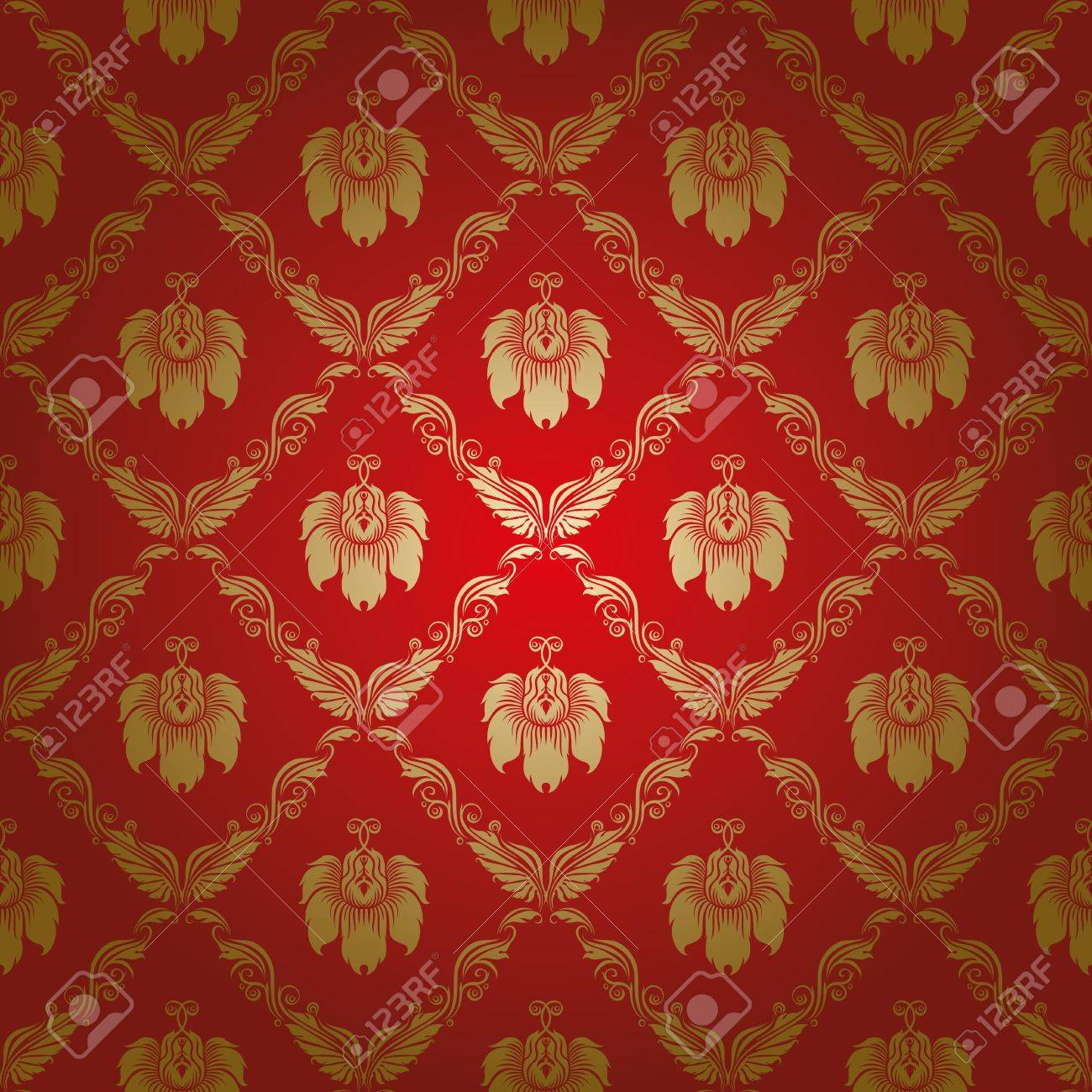damask seamless floral pattern Stock Vector - 13831384