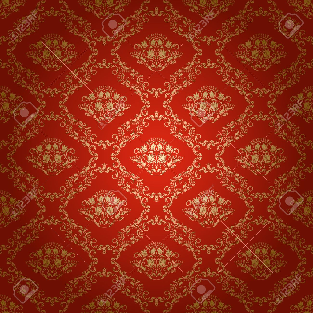 Damask seamless floral pattern  Royal wallpaper  Flowers on a bright background Stock Vector - 16529660