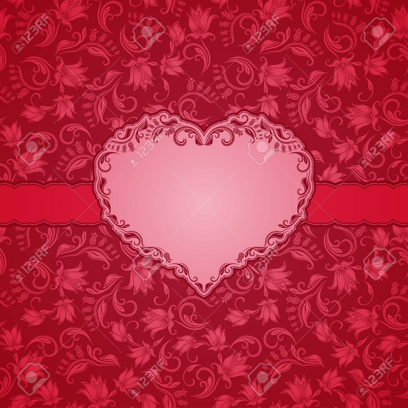 Template-Rahmen-Design Für Day Card Valentine S Hintergrund ...