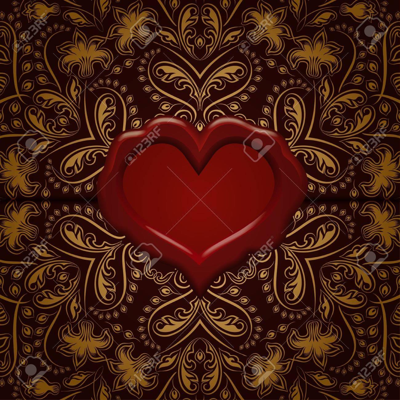 Plantilla De Diseño De Marco Para La Carta De Valentine S Day ...