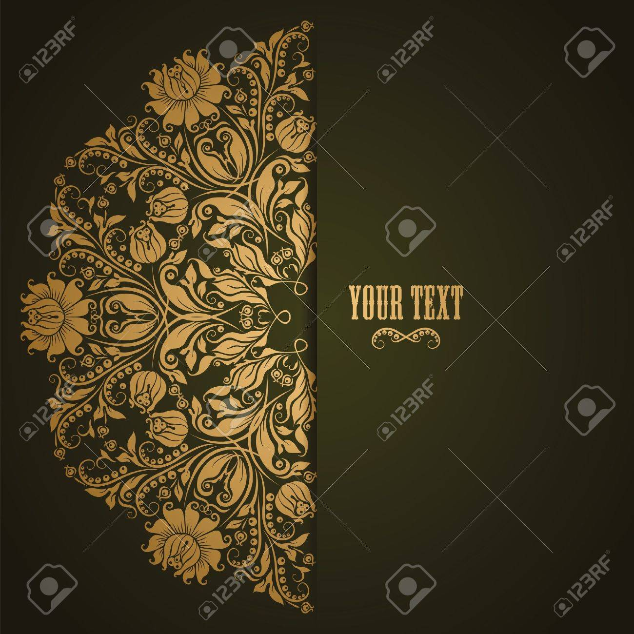 Elegant background with lace ornament and place for text. Floral elements, ornate background. Stock Vector - 17623673