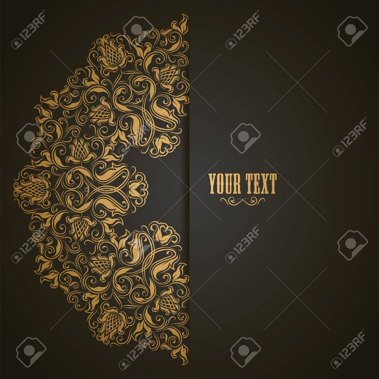 Elegant background with lace ornament and place for text. Floral elements, ornate background. Stock Vector - 17623674