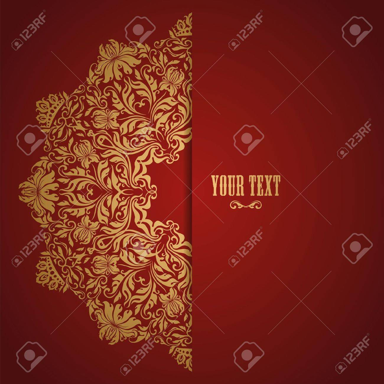 Elegant background with lace ornament and place for text. Floral elements, ornate background. 10. Stock Vector - 17623671
