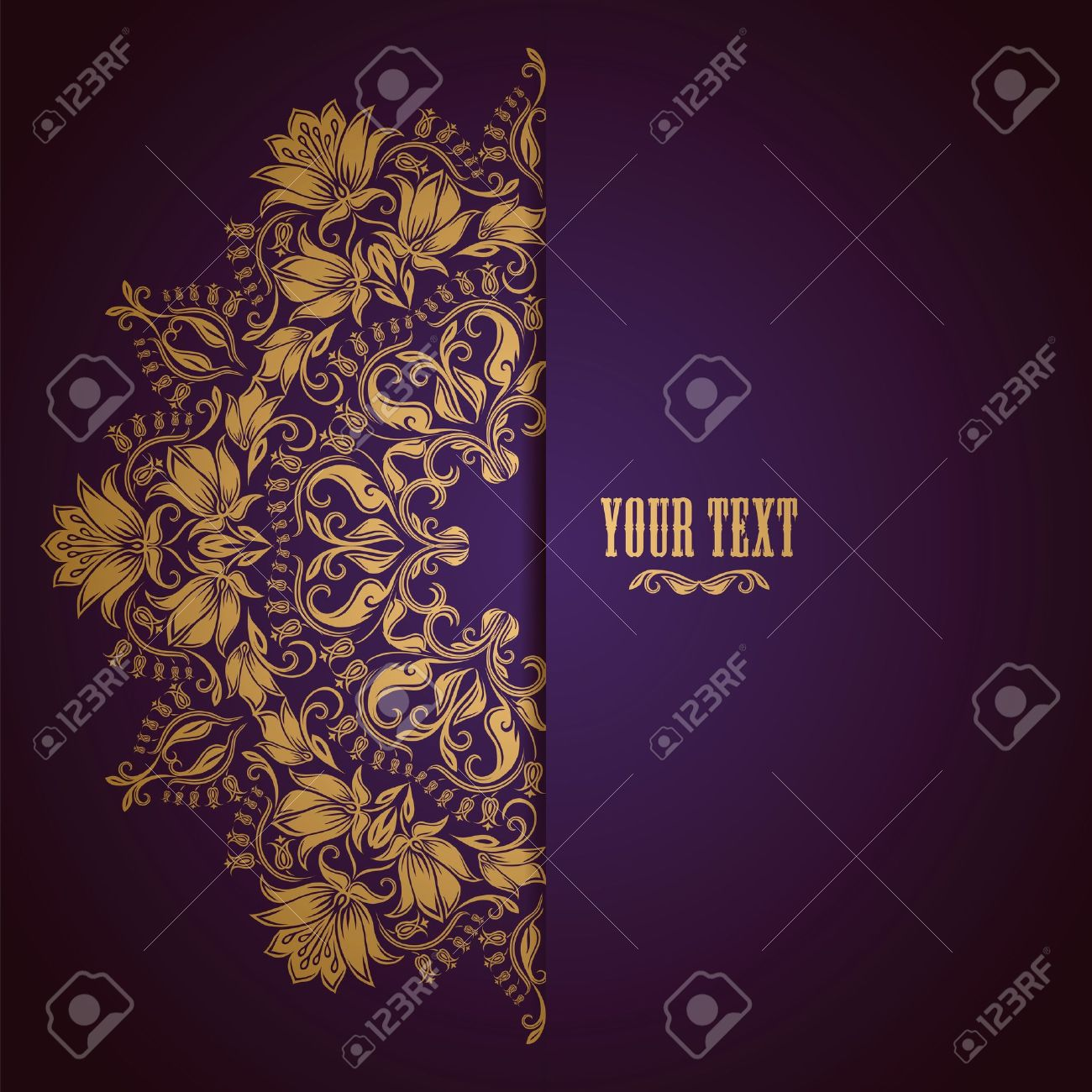 Elegant background with lace ornament and place for text. Floral elements, ornate background. Stock Vector - 17623677