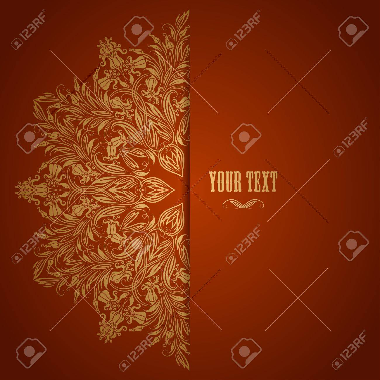 Elegant background with lace ornament and place for text  Floral elements, ornate background  Vector illustration Stock Vector - 21041814