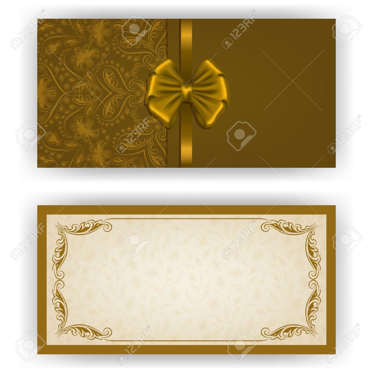 Invitación Elegante De Lujo De Plantilla Tarjeta Con Adornos De Encaje Arco El Lugar De Texto Elementos Florales Fondo Adornado