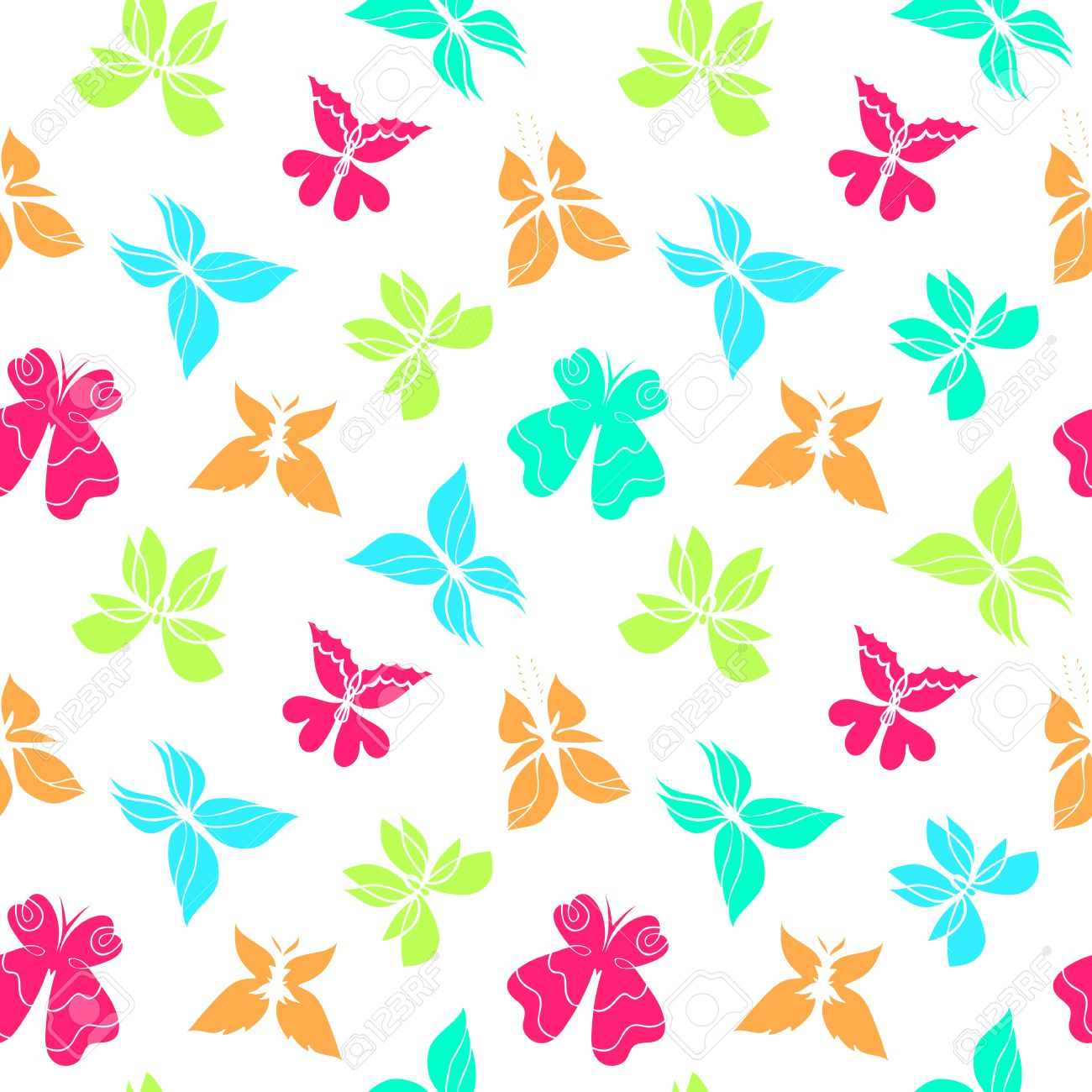 butterfly seamless pattern colorful butterfly background
