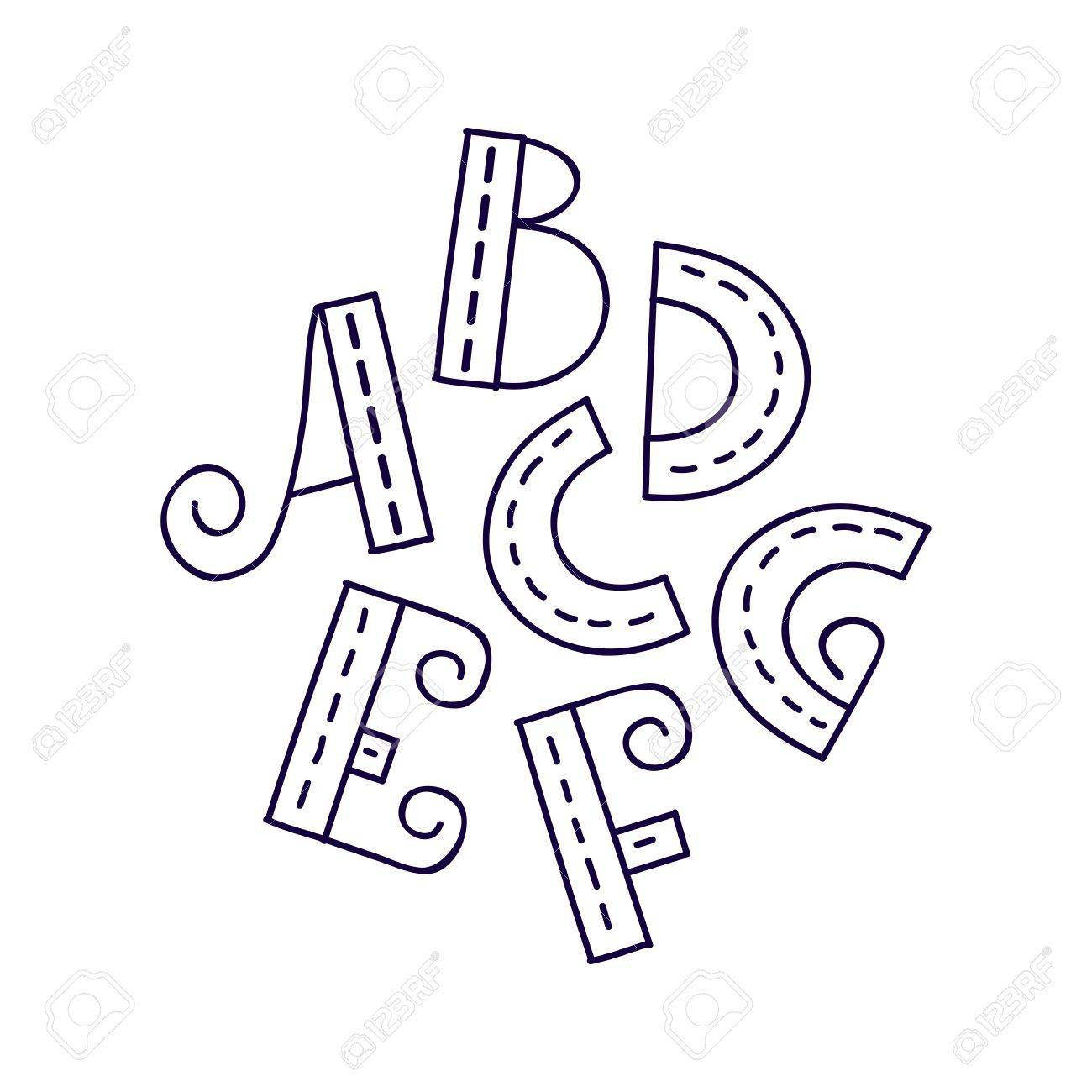 Hand drawn vector a b c d e f g letters doodle alphabet eps hand drawn vector a b c d e f g letters doodle alphabet eps 8 stock vector 71928509 thecheapjerseys Images