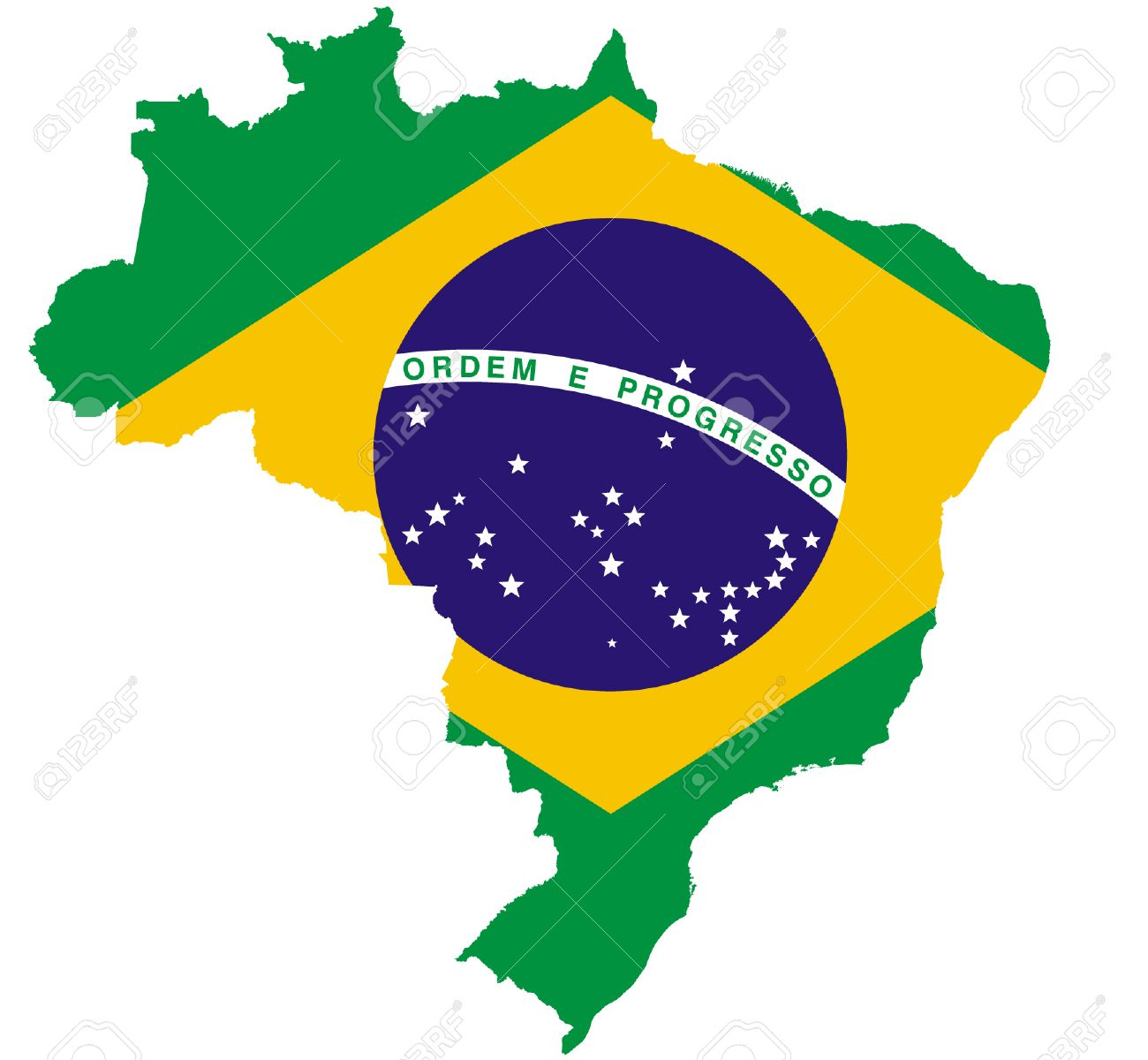 Brazil Map And Flag Royalty Free Cliparts Vectors And Stock - Brazil map illustration