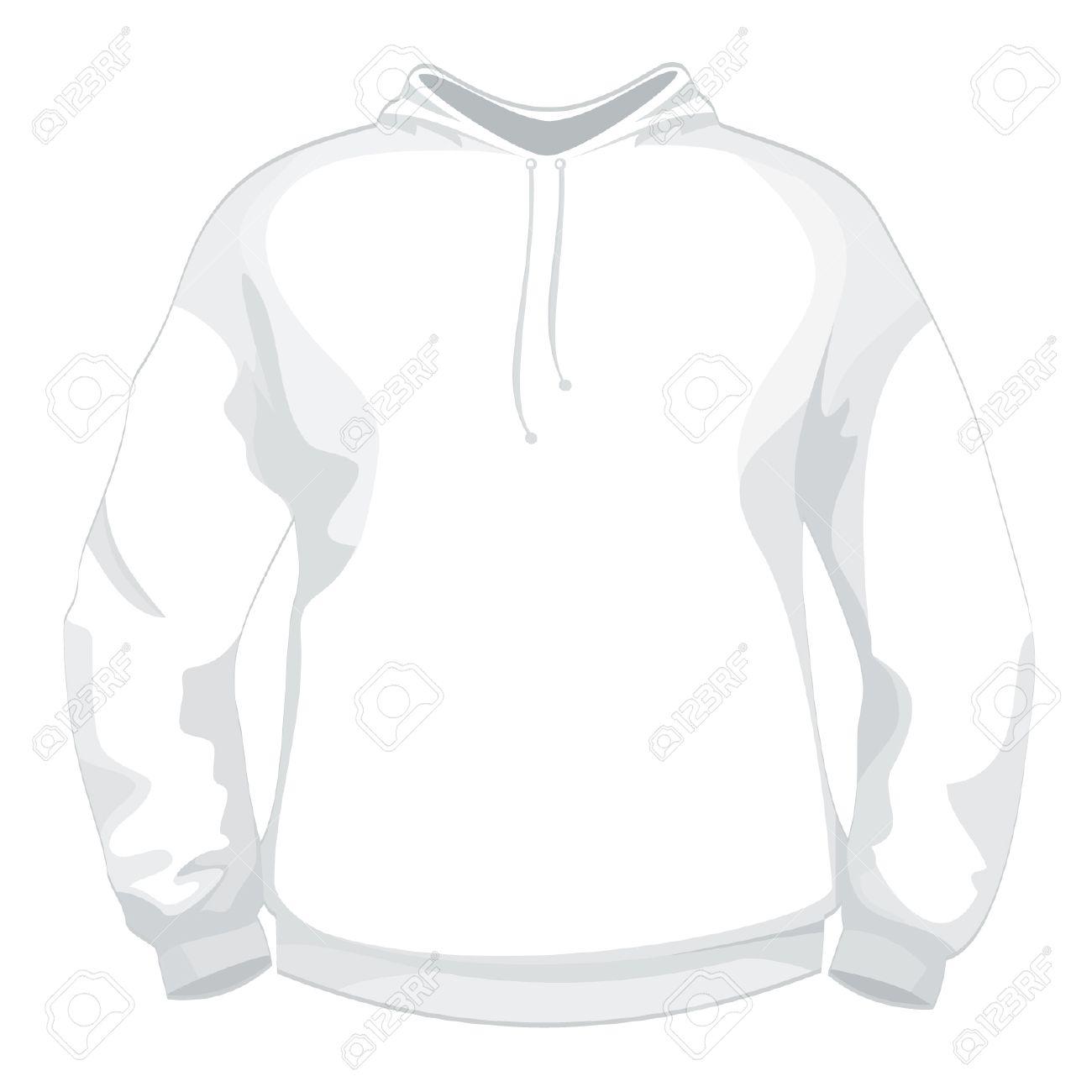 Weiße Jacke Oder Pullover Design-Vorlage Lizenzfrei Nutzbare ...