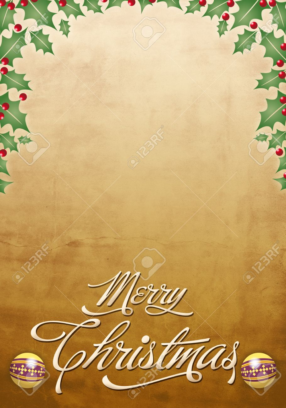 Christmas Poster - Template Stock Photo, Picture And Royalty Free ...