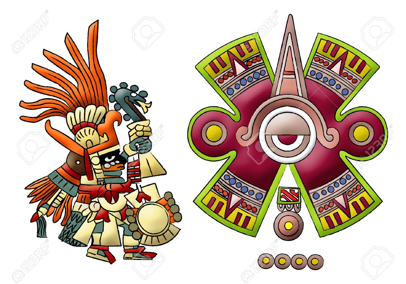 Maya Aztec Mexica Isolated Symbols Stock Photo Picture And