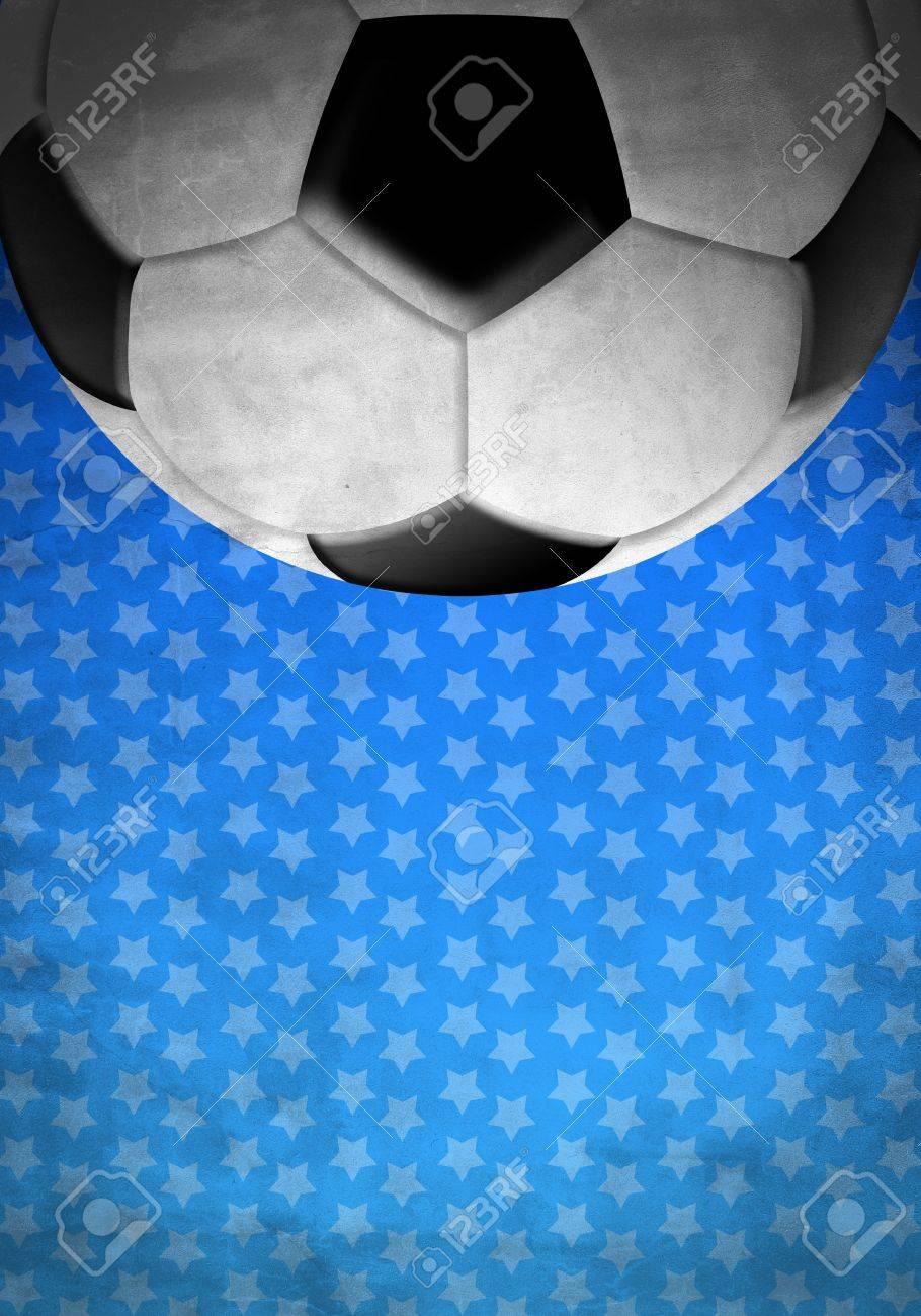 Immagini Stock Calcio Calcio Palla Su Uno Sfondo Blu Con Stelle