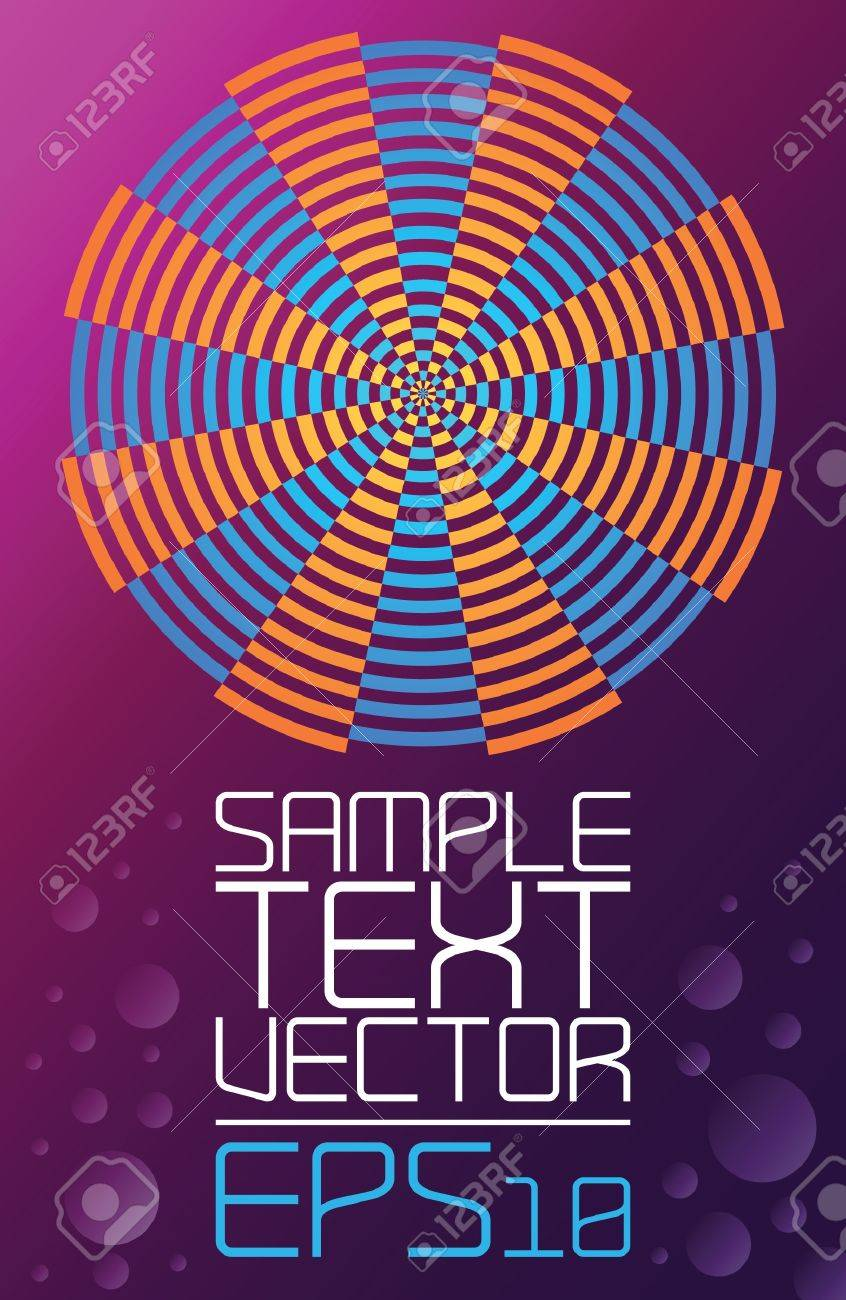 Abstract Retro Technology - Poster Template - Vector Royalty Free ...