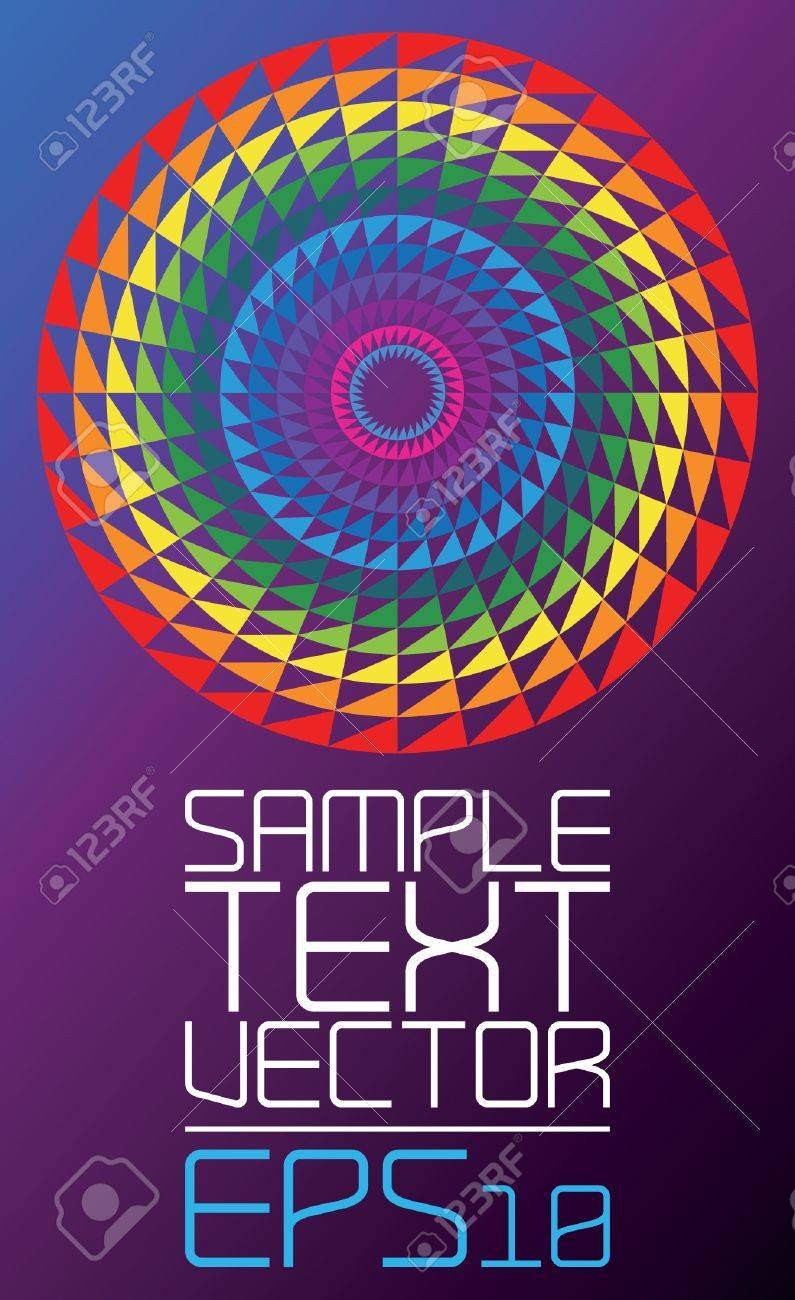 Colorful Abstract retro technology Poster template - vector Stock Vector - 17018482