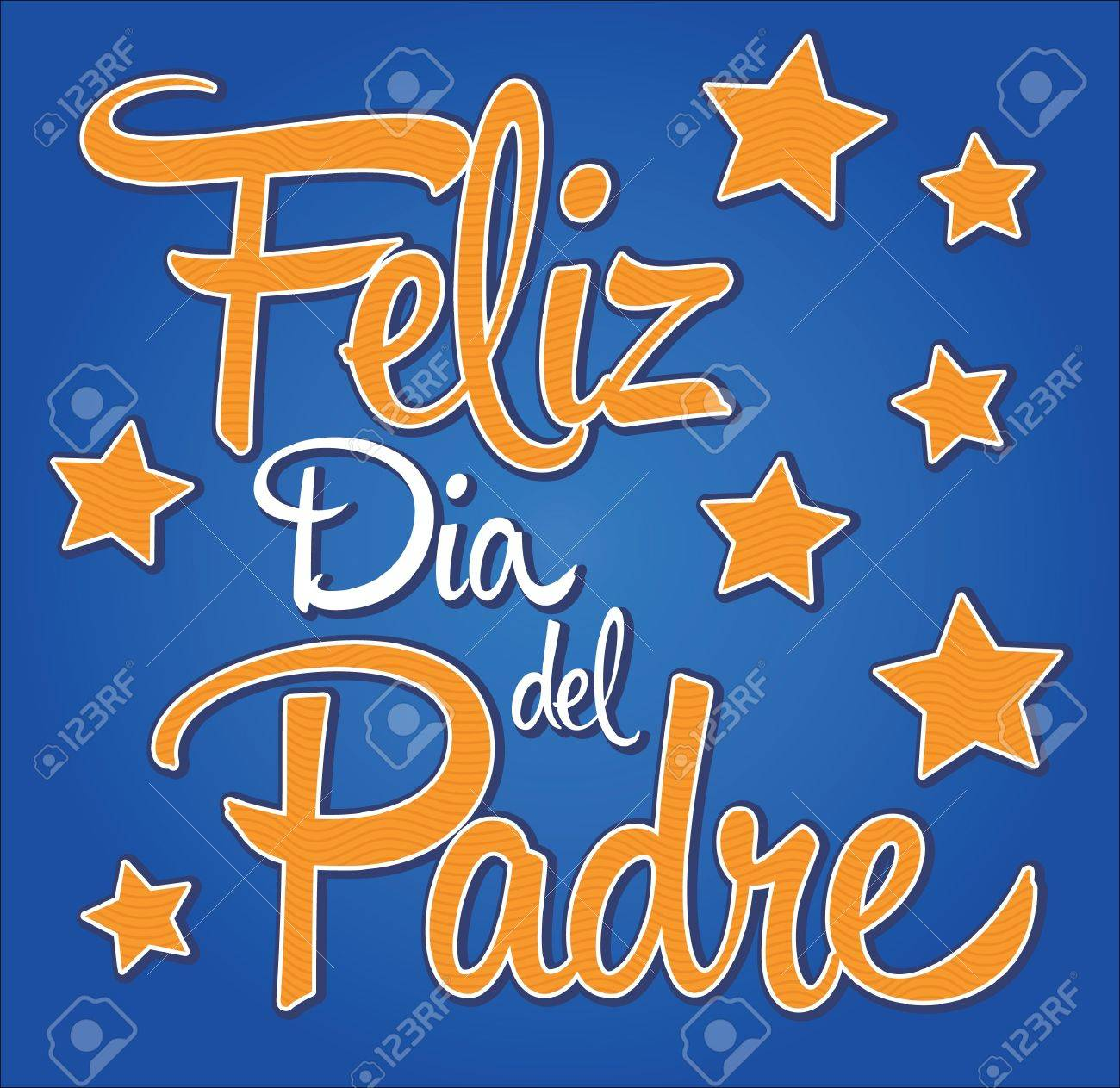 feliz dia de padre spanish text happy fathers day card royalty