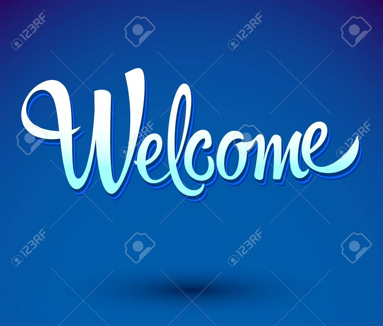 welcome - lettering vector - 21022324